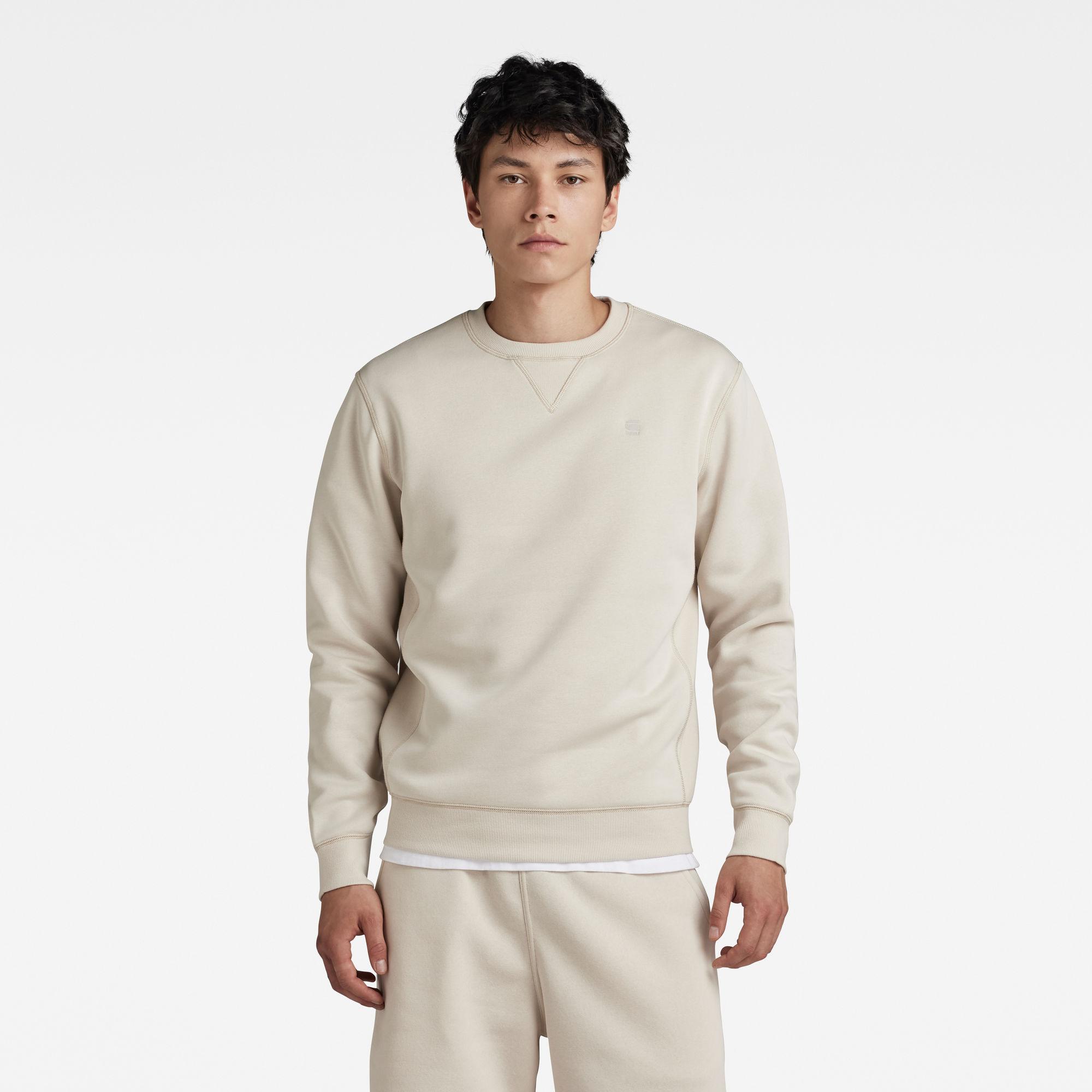 G-Star RAW Heren Premium Core Sweater Beige