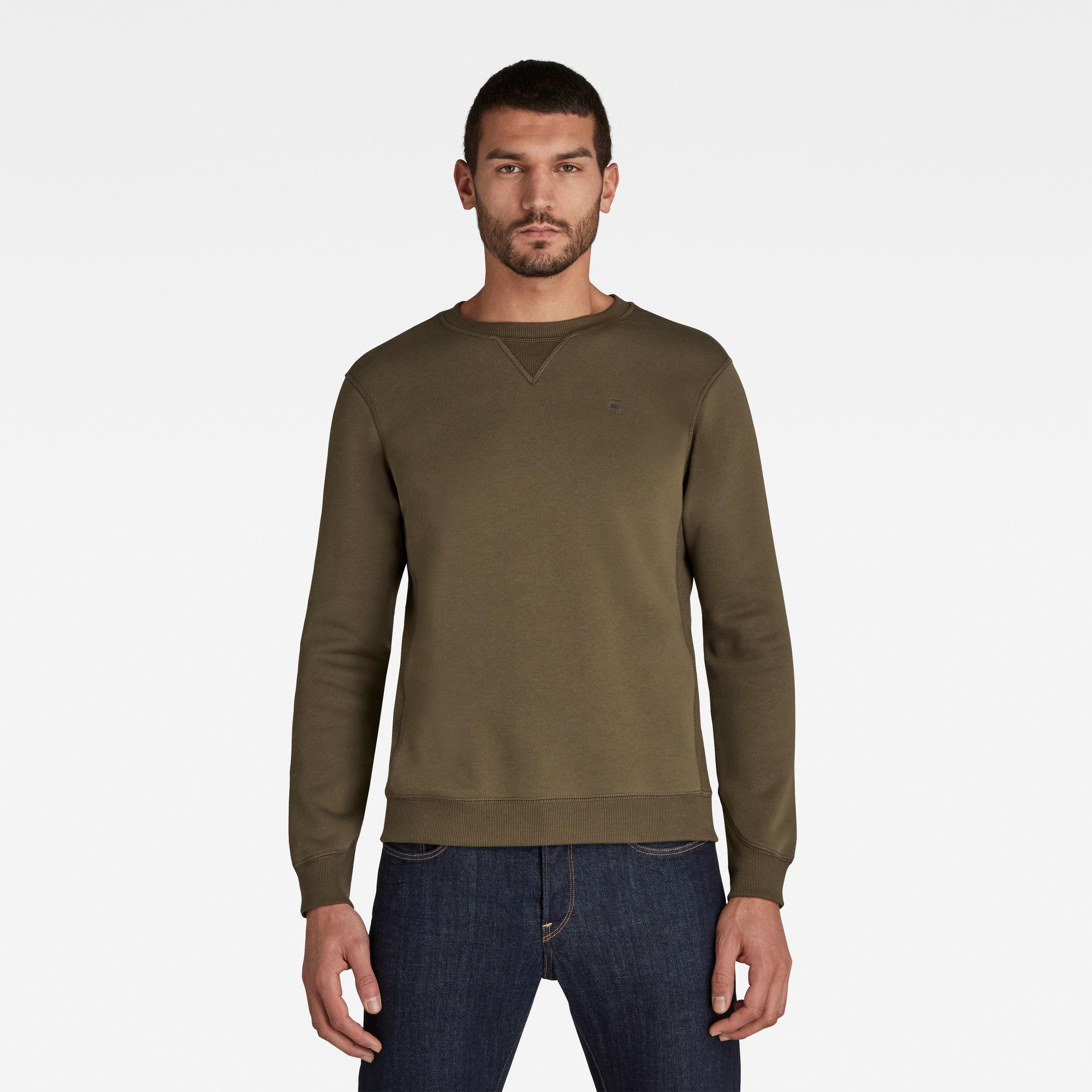 G-Star RAW Heren Premium Core Sweater Groen