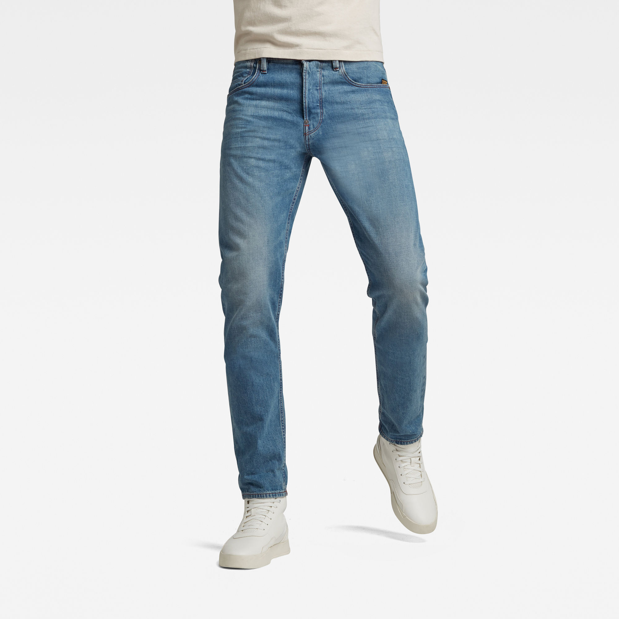 G-Star RAW Heren Alum Relaxed Tapered Jeans Blauw