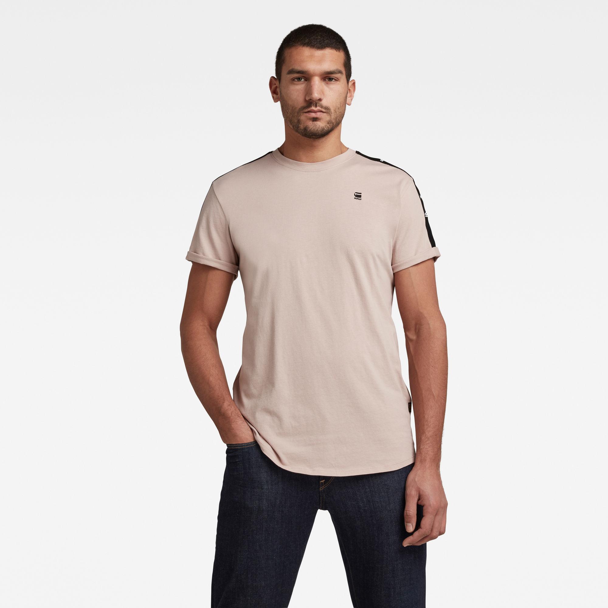 G-Star RAW Heren Lash Tape T-Shirt Roze