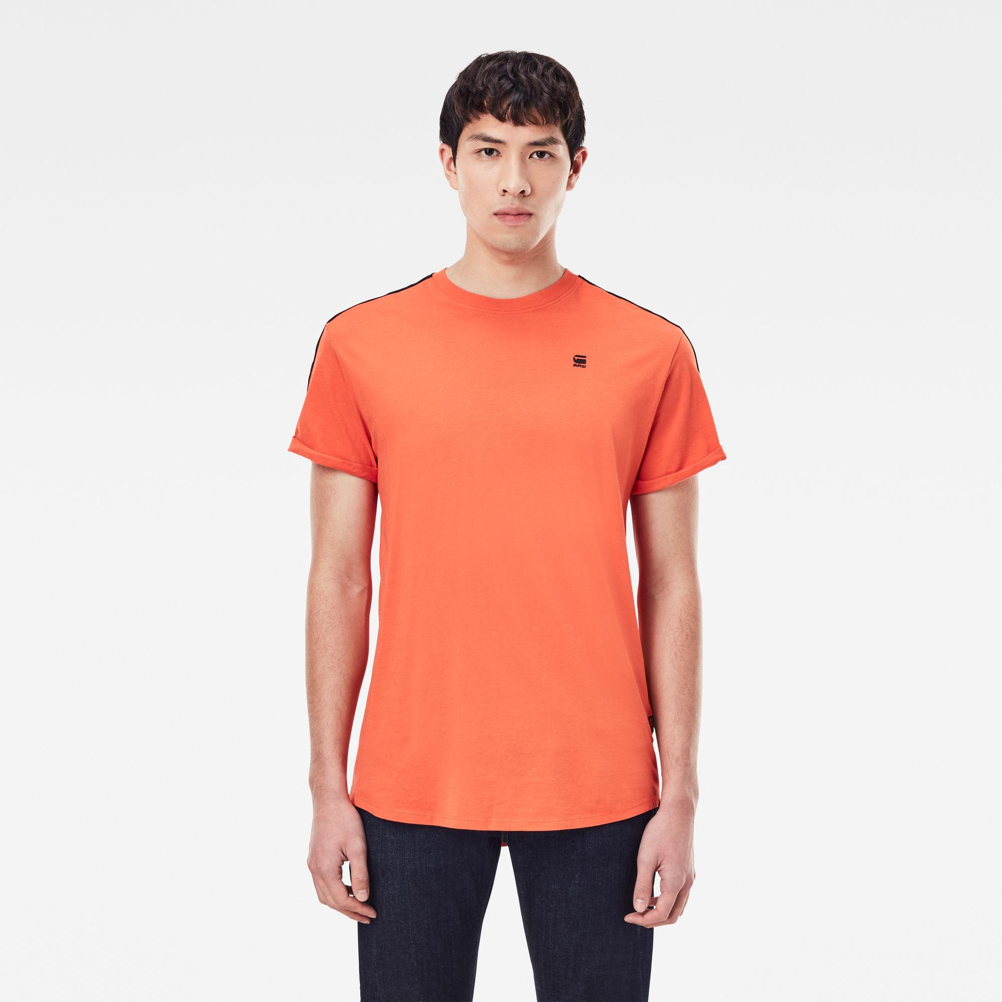 G-Star RAW Heren Lash Tape T-Shirt Oranje