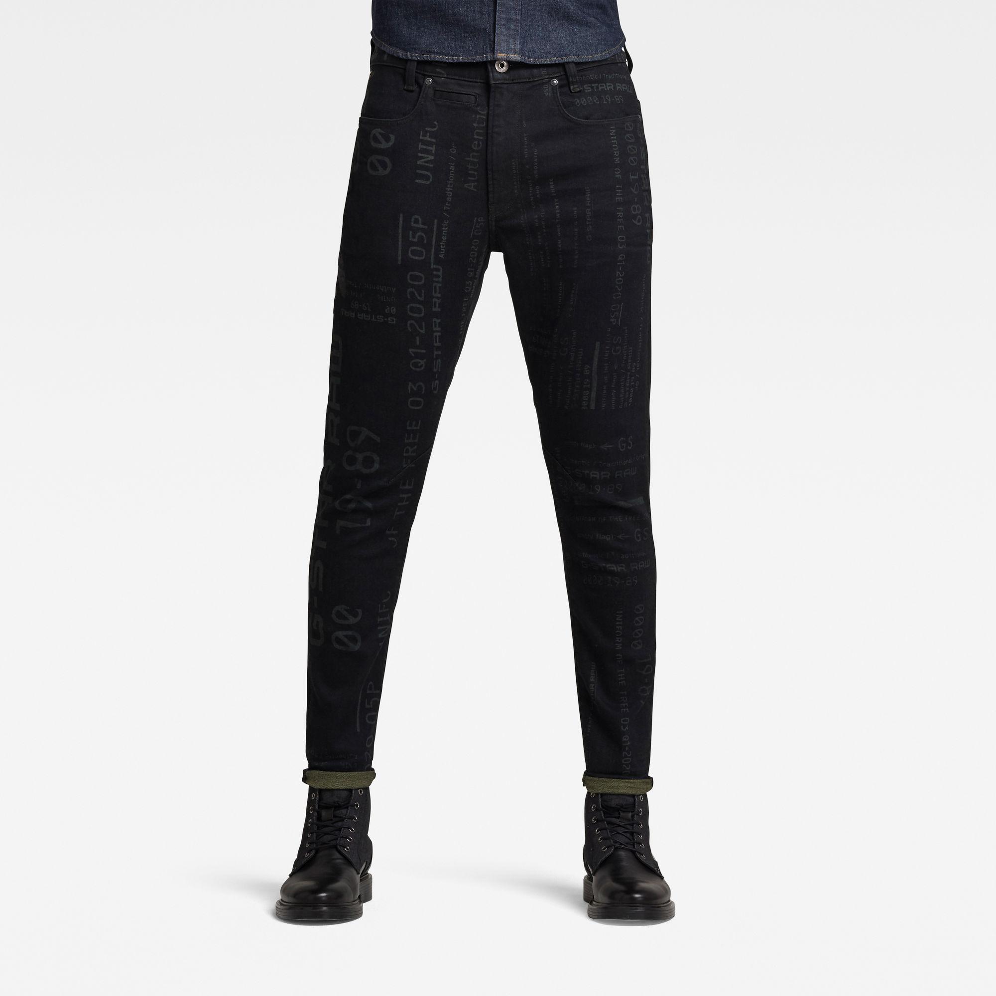 G-Star RAW Heren D-Staq 3D Slim Jeans Zwart