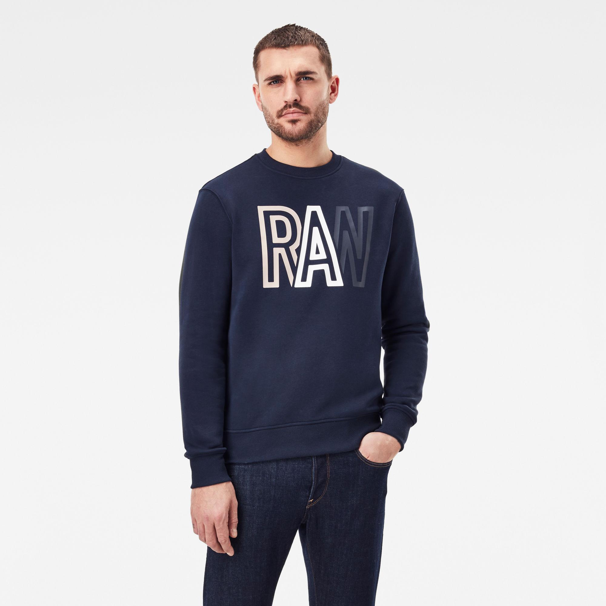 G-Star RAW Heren Raw Sweater Donkerblauw