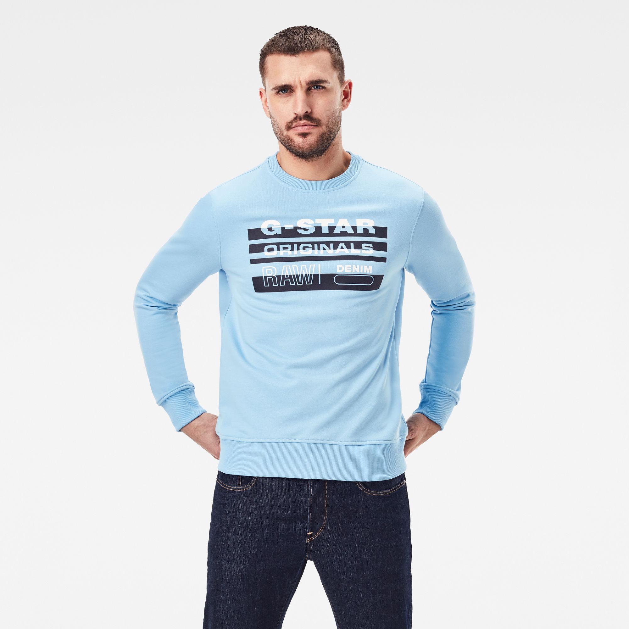 G-Star RAW Heren Originals Sweater Blauw