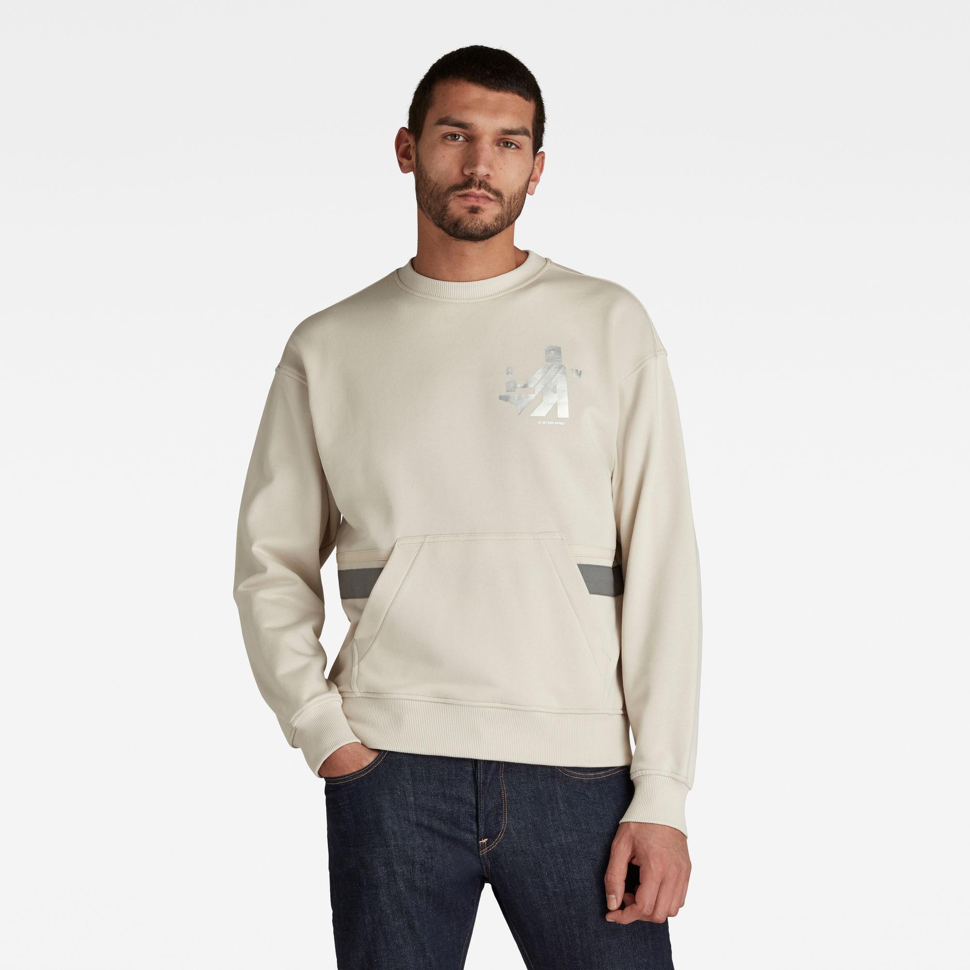 G-Star RAW Heren Hammer Raw Sweater Beige
