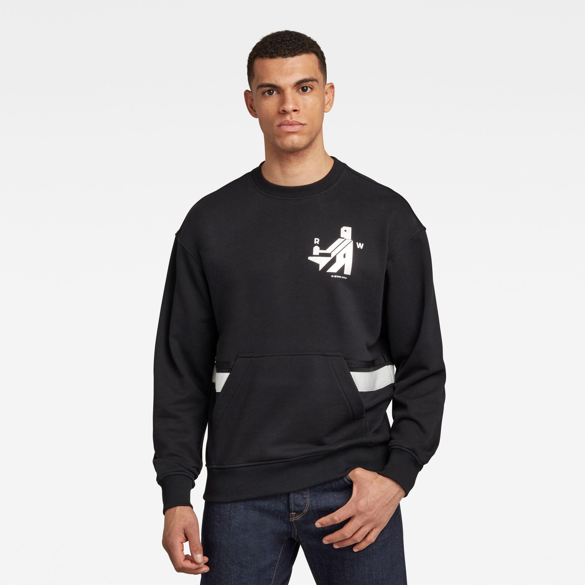 G-Star RAW Heren Hammer Raw Sweater Zwart