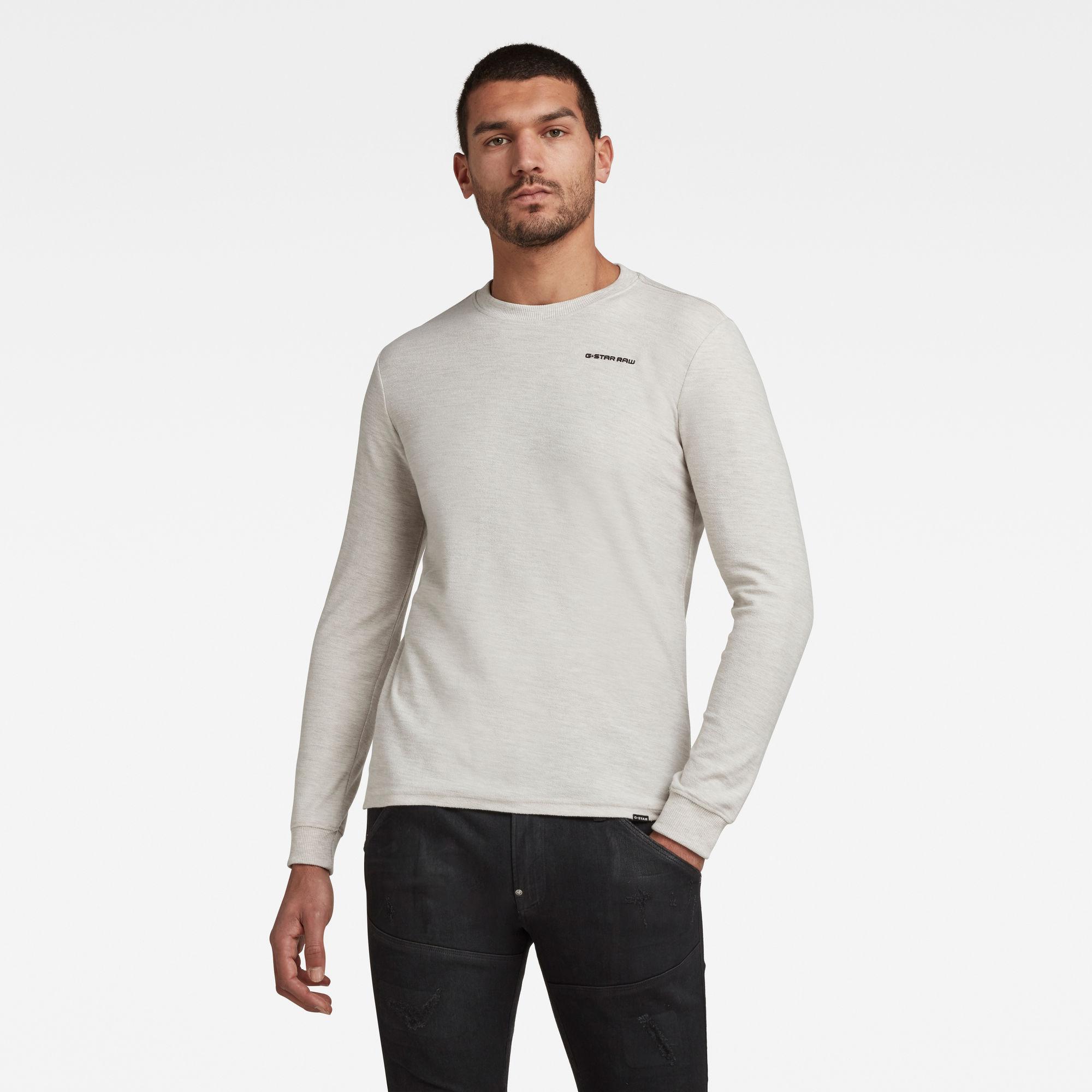 G-Star RAW Heren Textured Stitch Tweater Wit