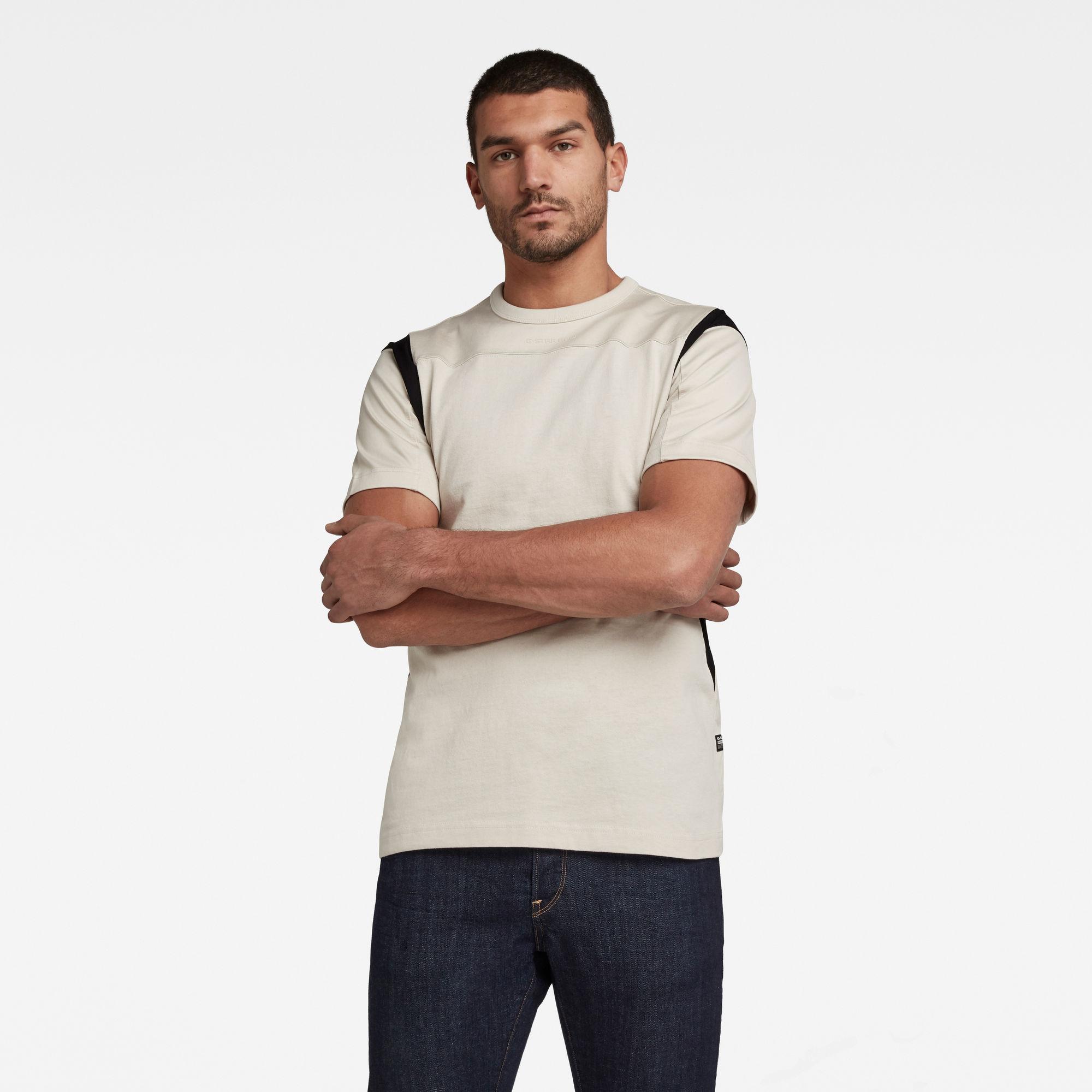 G-Star RAW Heren Moto Mesh Motac T-Shirt Beige