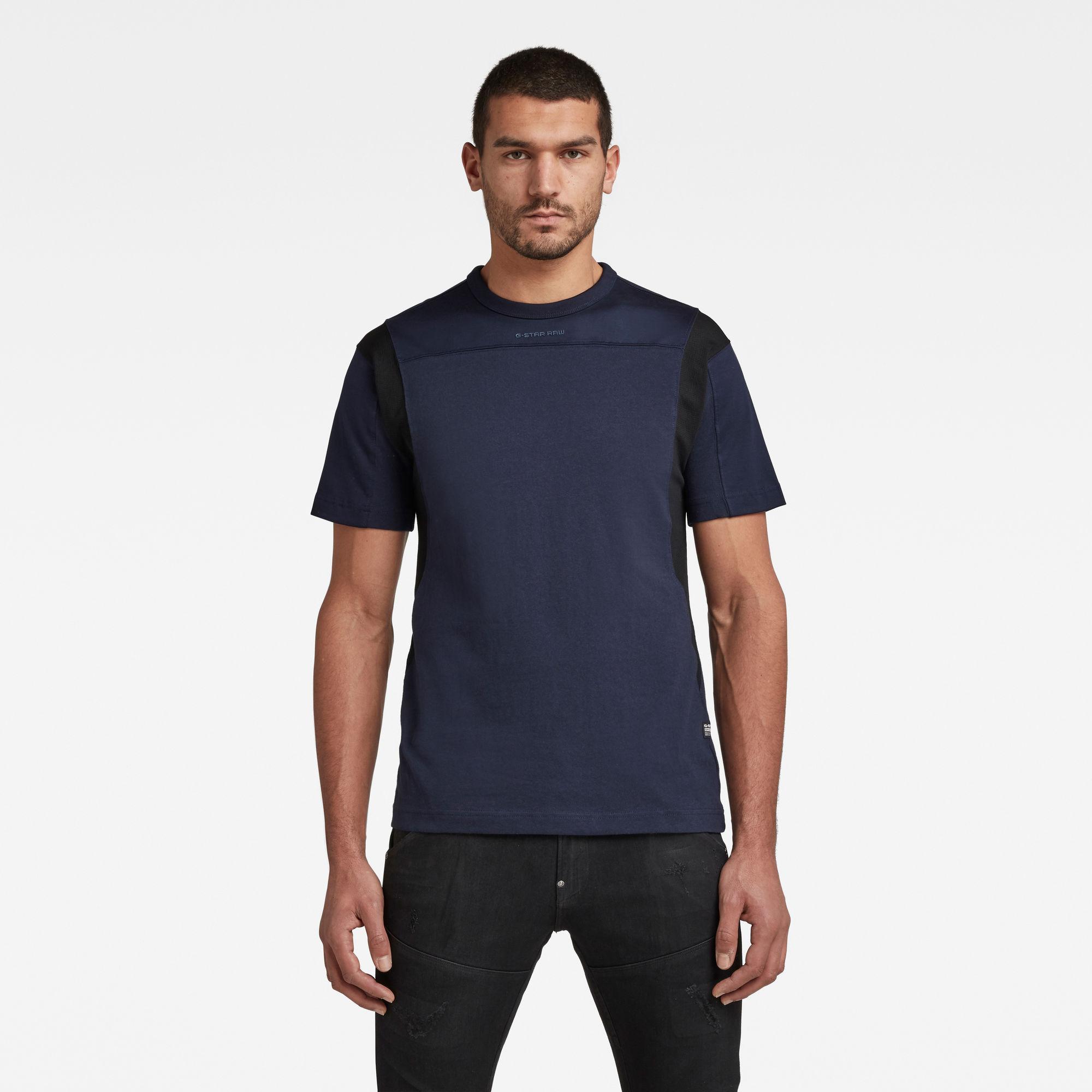 G-Star RAW Heren Moto Mesh Motac T-Shirt Donkerblauw