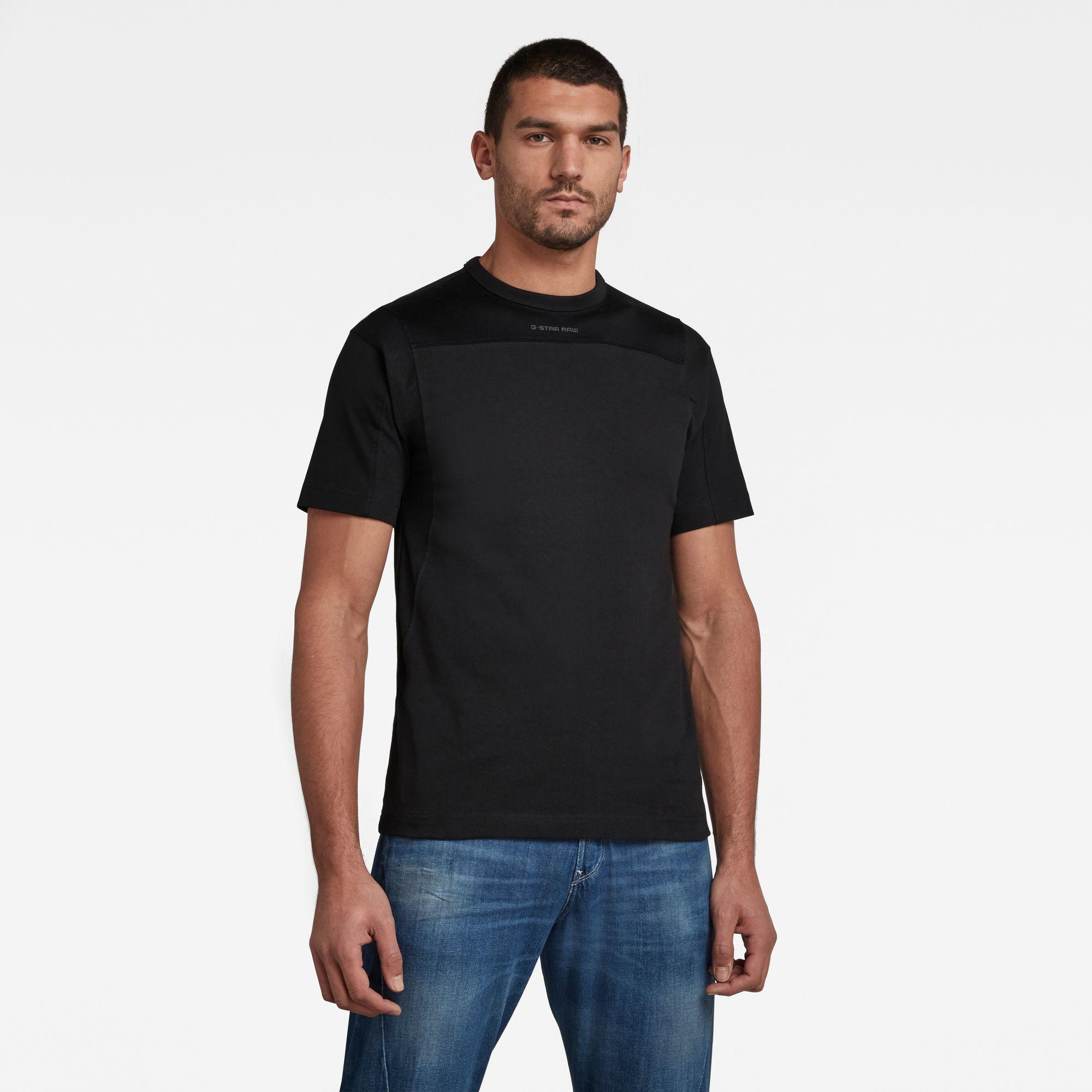 G-Star RAW Heren Moto Mesh Motac T-Shirt Zwart