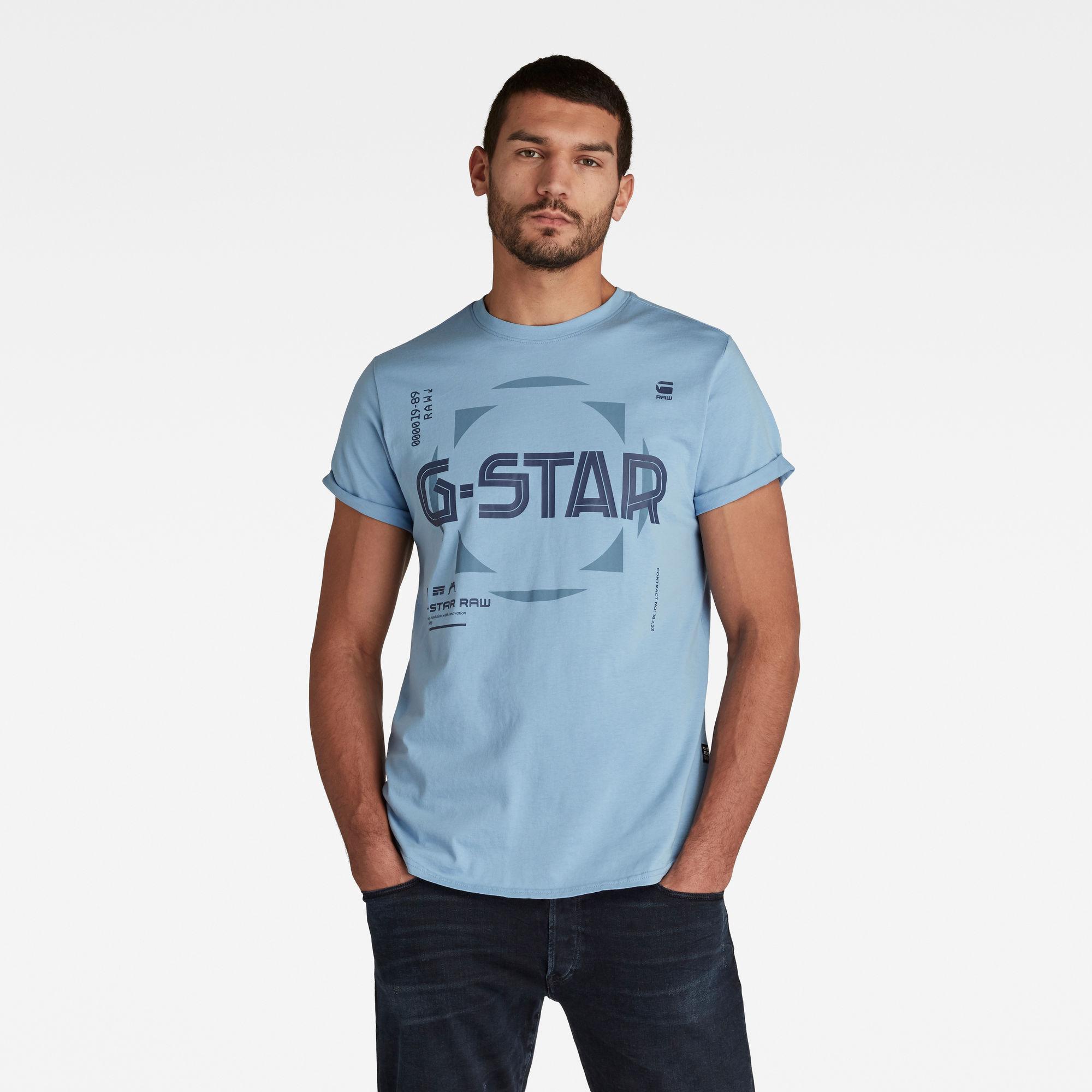 G-Star RAW Heren Lash Graphic T-Shirt Blauw