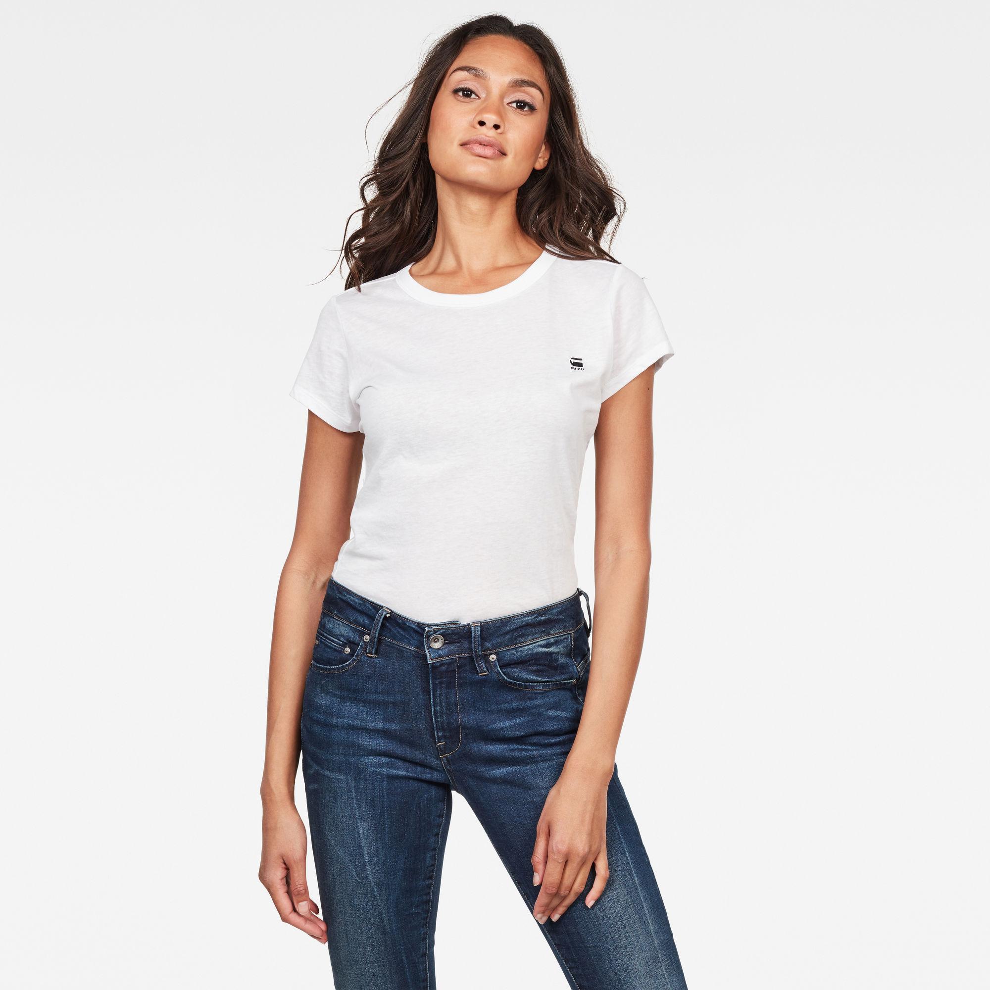 G-Star RAW Dames Eyben Slim T-Shirt Wit