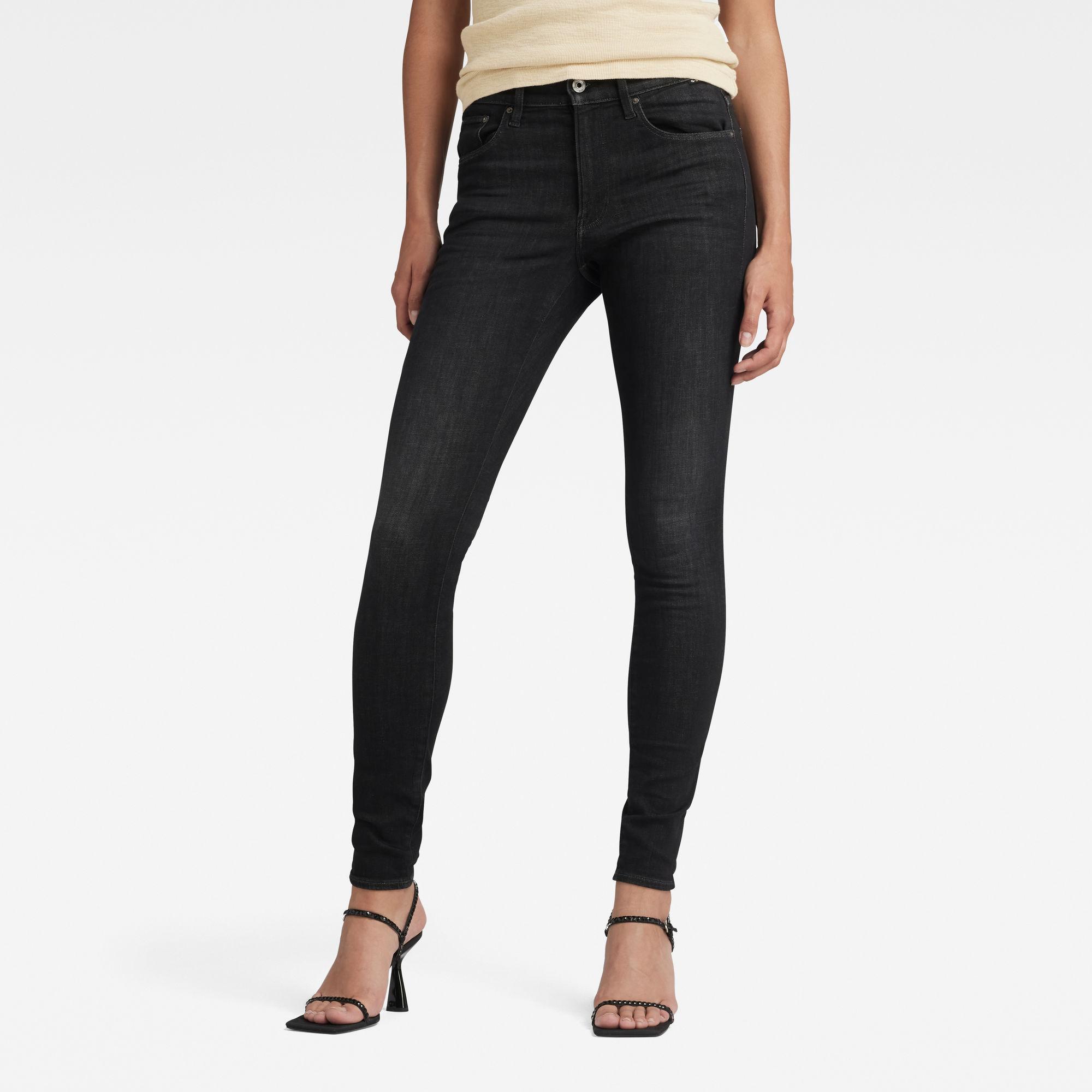 3301 High Skinny Jeans Zwart