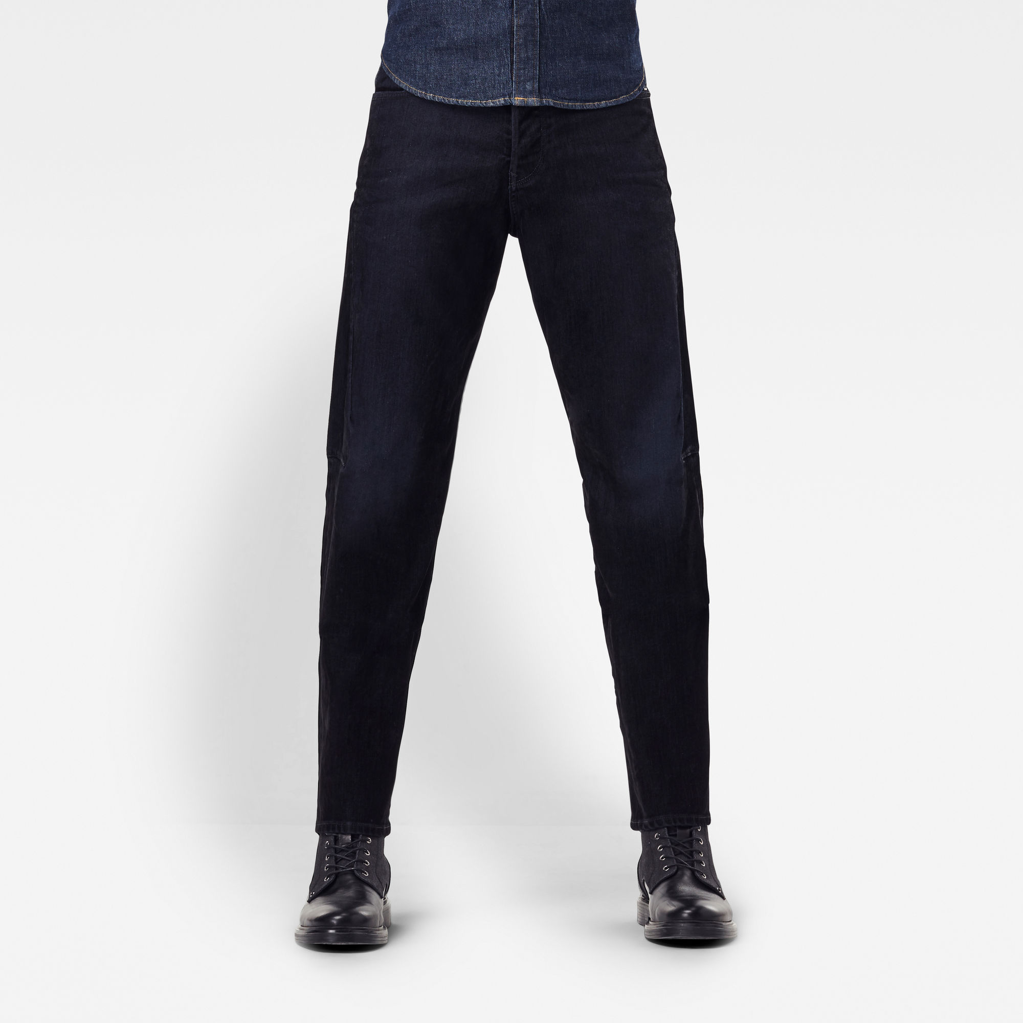 G-Star RAW Hombre Jeans Scutar 3D Slim Tapered Negro