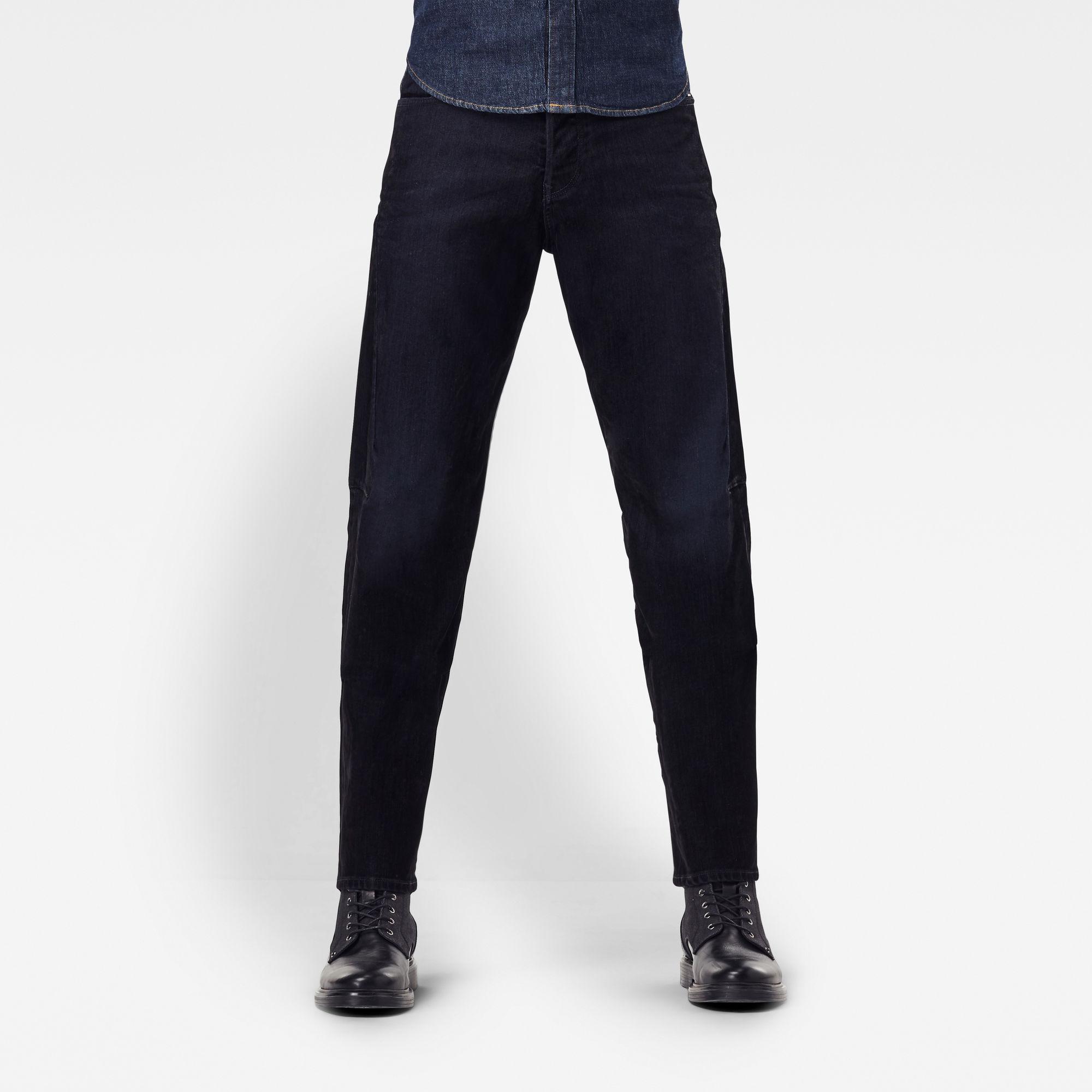 G-Star RAW Heren Scutar 3D Tapered Jeans Zwart