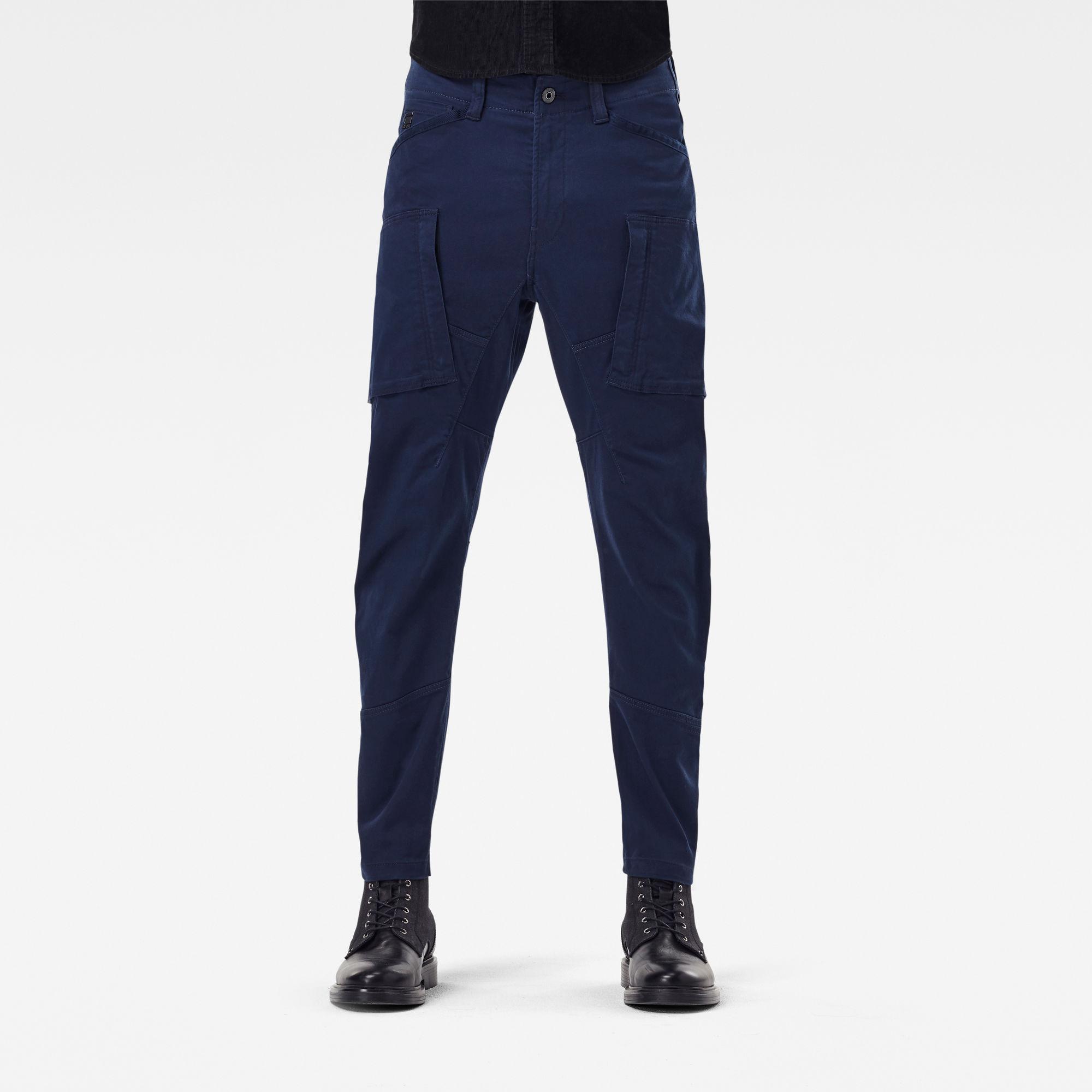 G-Star RAW Heren Zip Pocket 3D Skinny Cargo Broek Donkerblauw