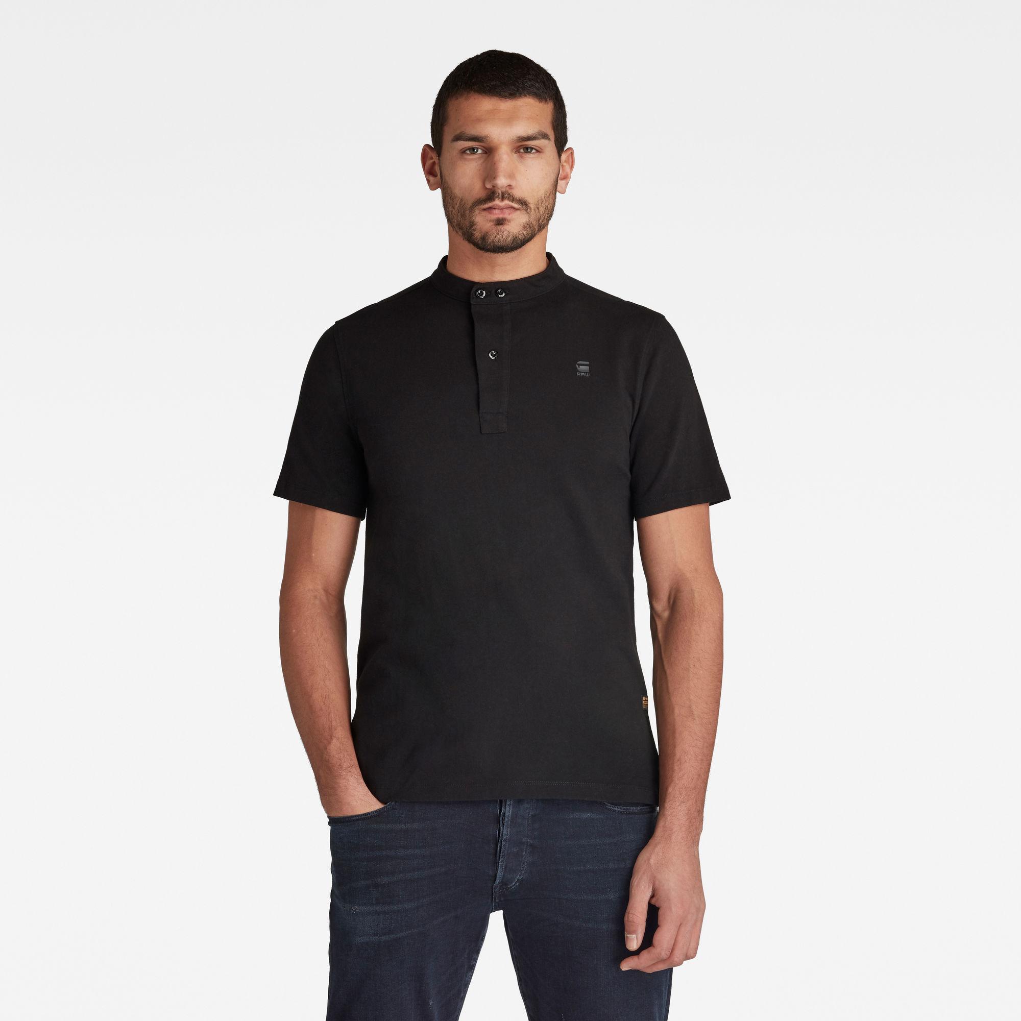 G-Star RAW Heren Scan Collar Polo Zwart