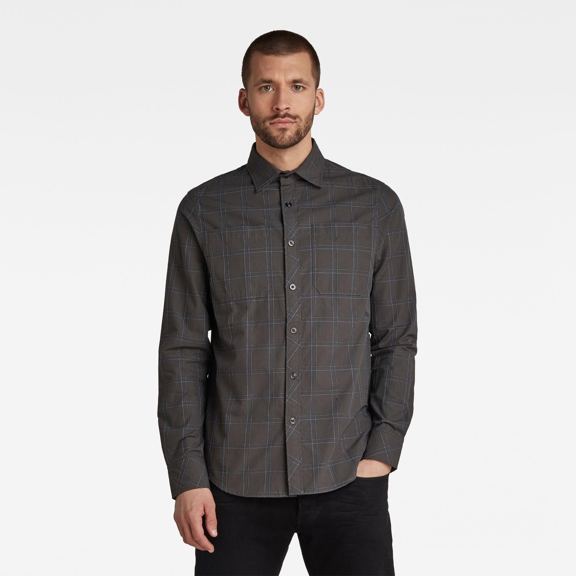 2 Pocket Worker Regular Shirt Bruin