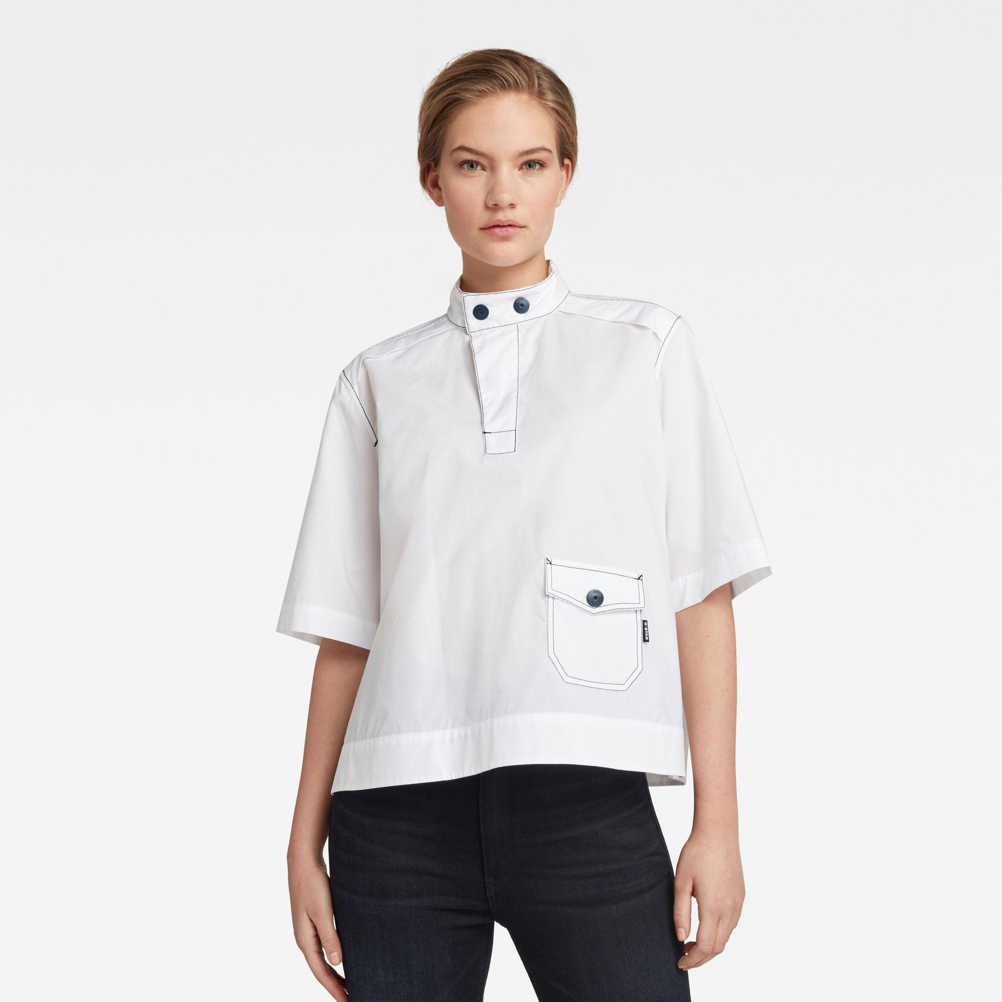 G-Star RAW Dames Swedish Collar Shirt Wit