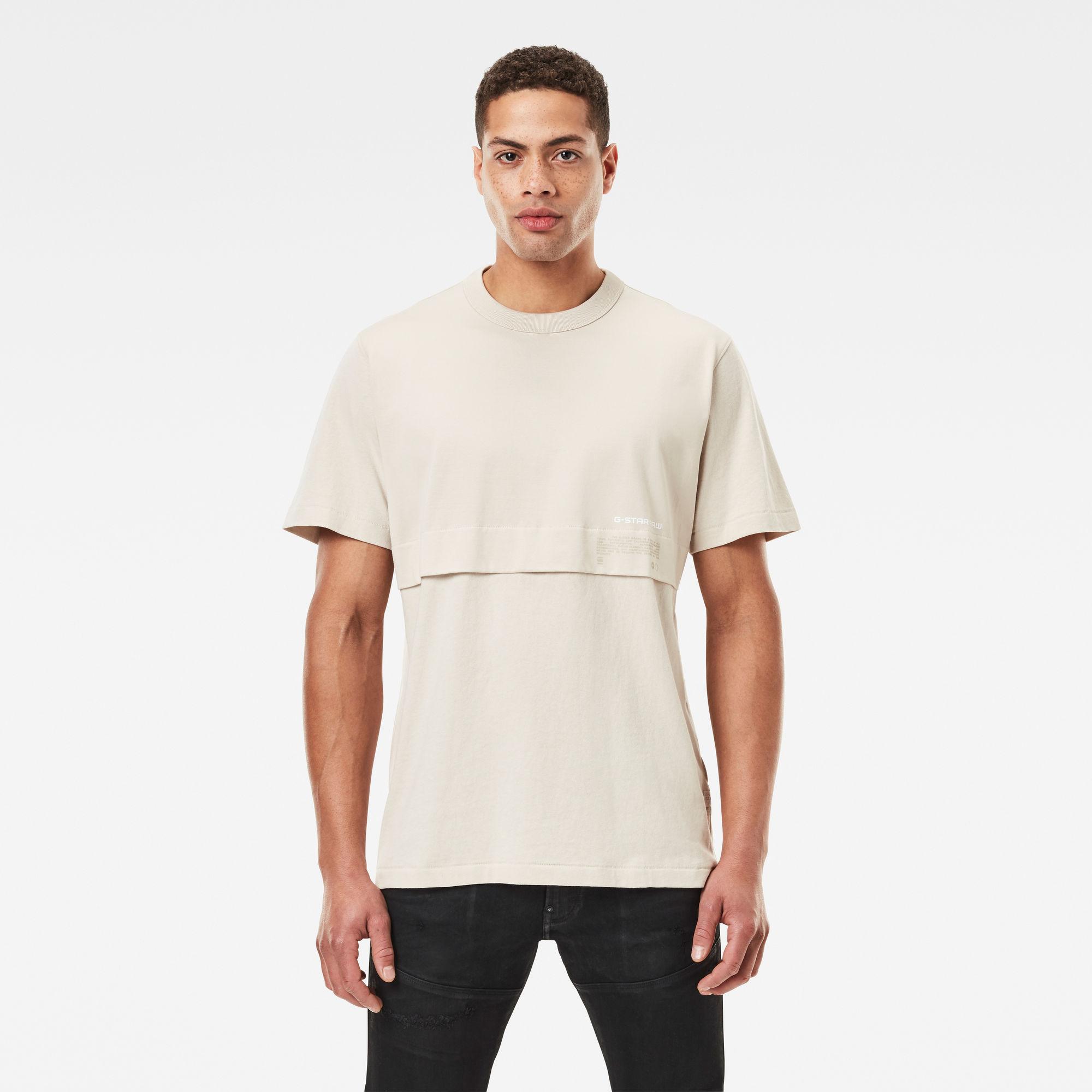 G-Star RAW Heren Mercerized C&S Loose T-Shirt Beige