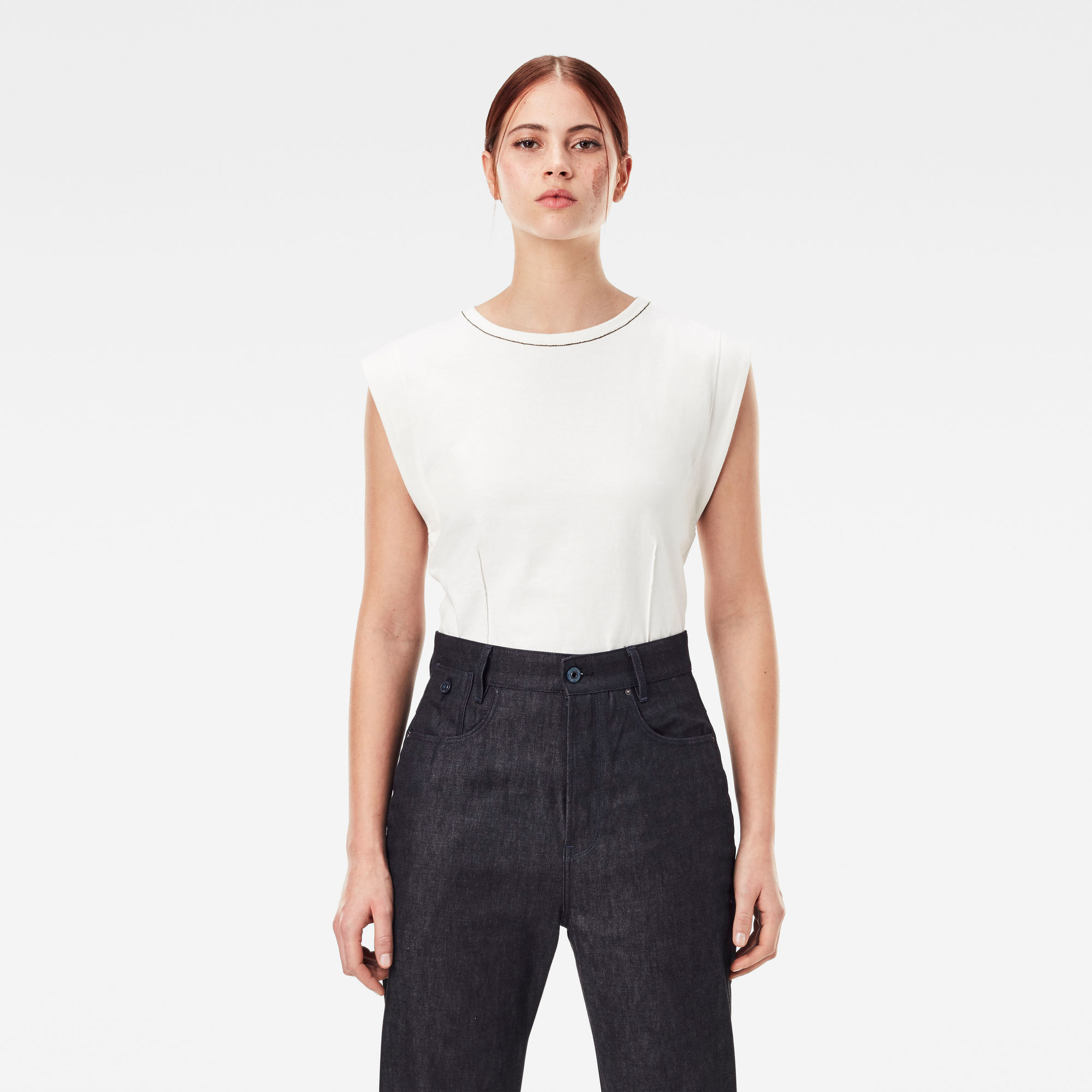 G-Star RAW Dames Waisted Top Wit