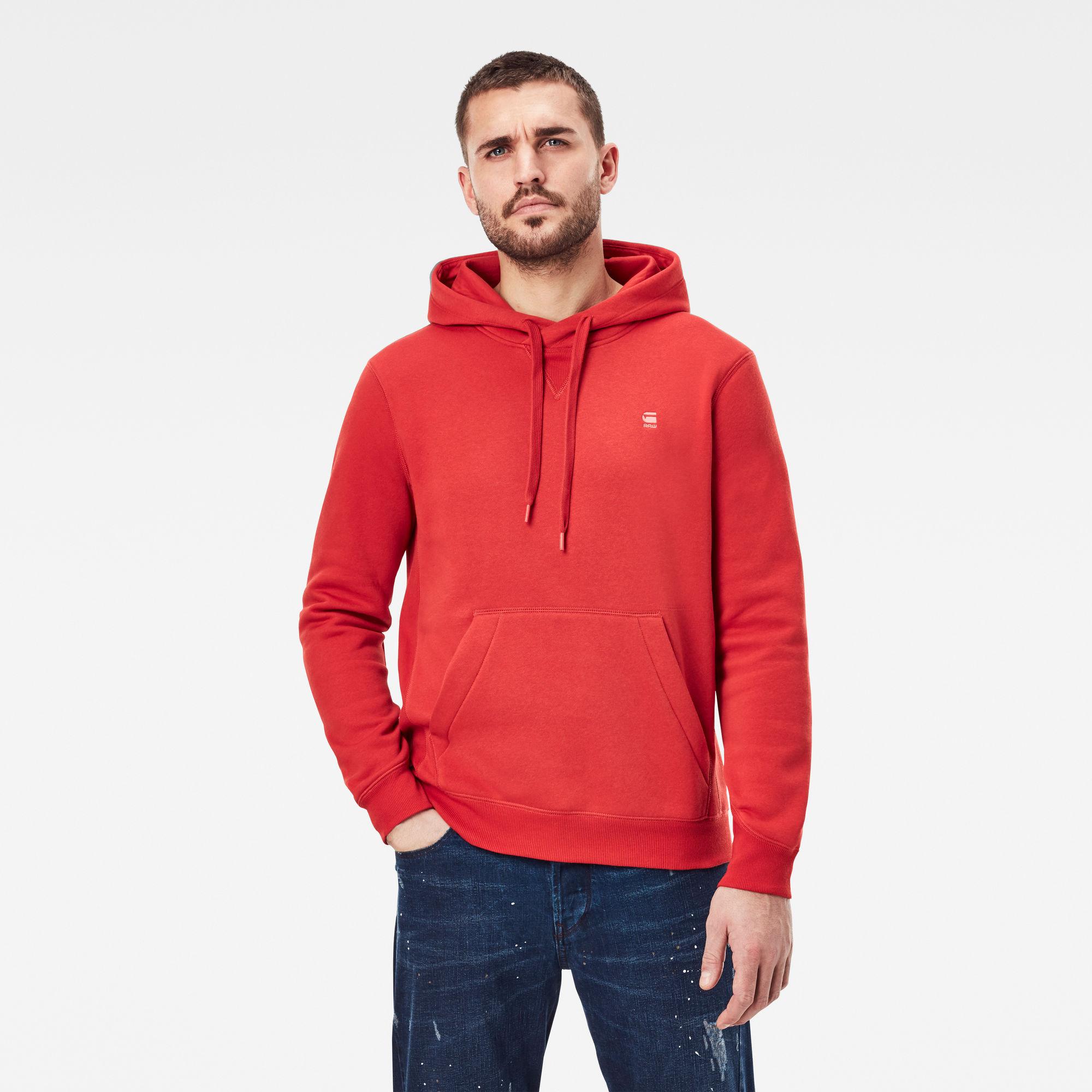 G-Star RAW Heren Premium Core Hooded Sweater Rood