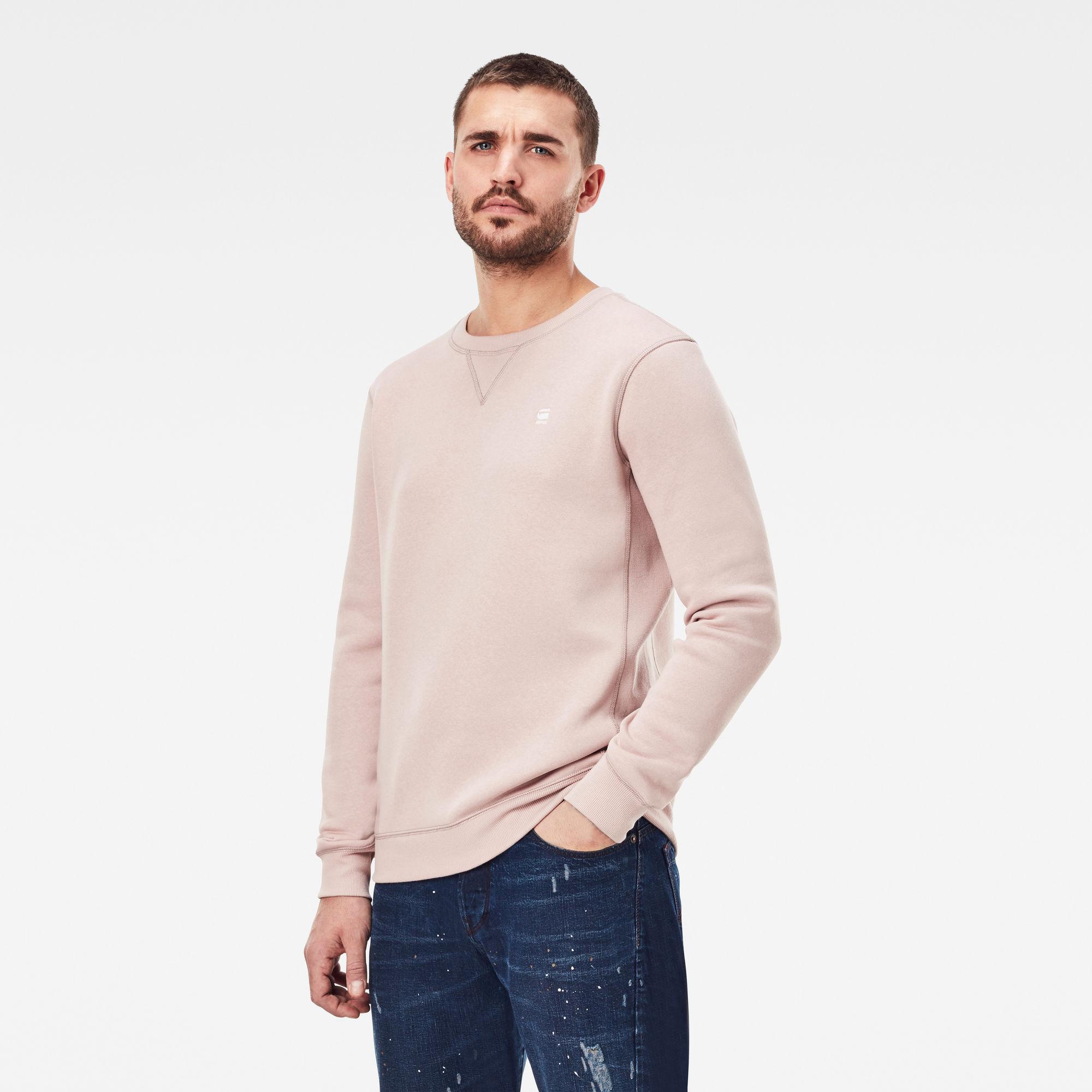 G-Star RAW Heren Premium Core Sweater Roze