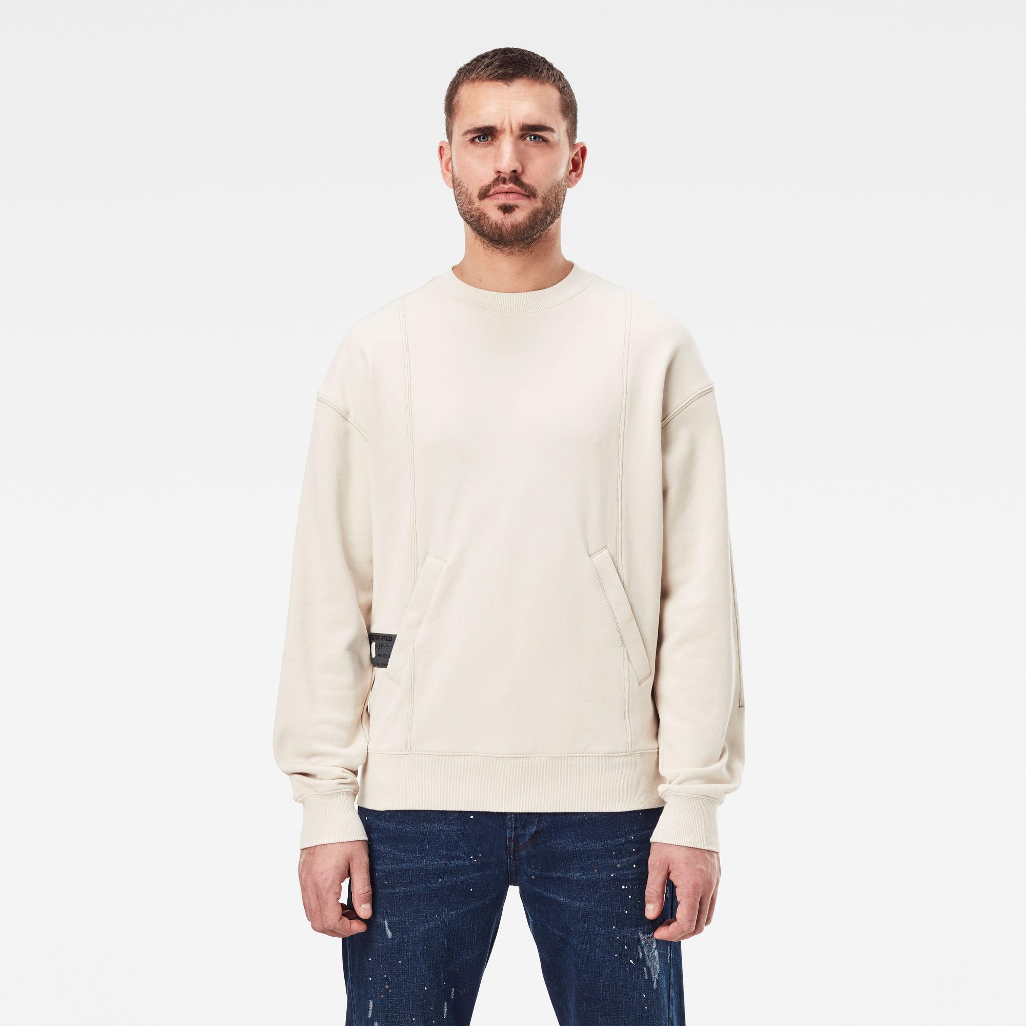G-Star RAW Heren Stitch Sweater Beige