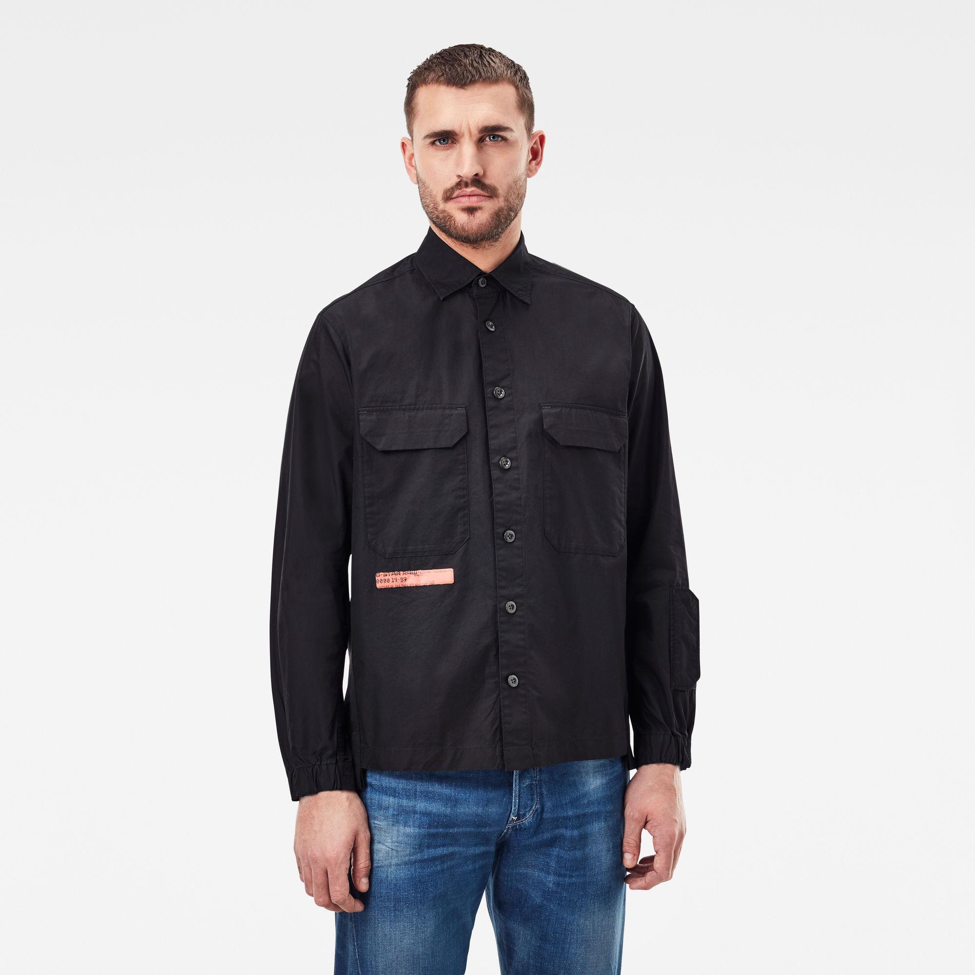 G-Star RAW Heren Multipocket Relaxed Shirt Zwart