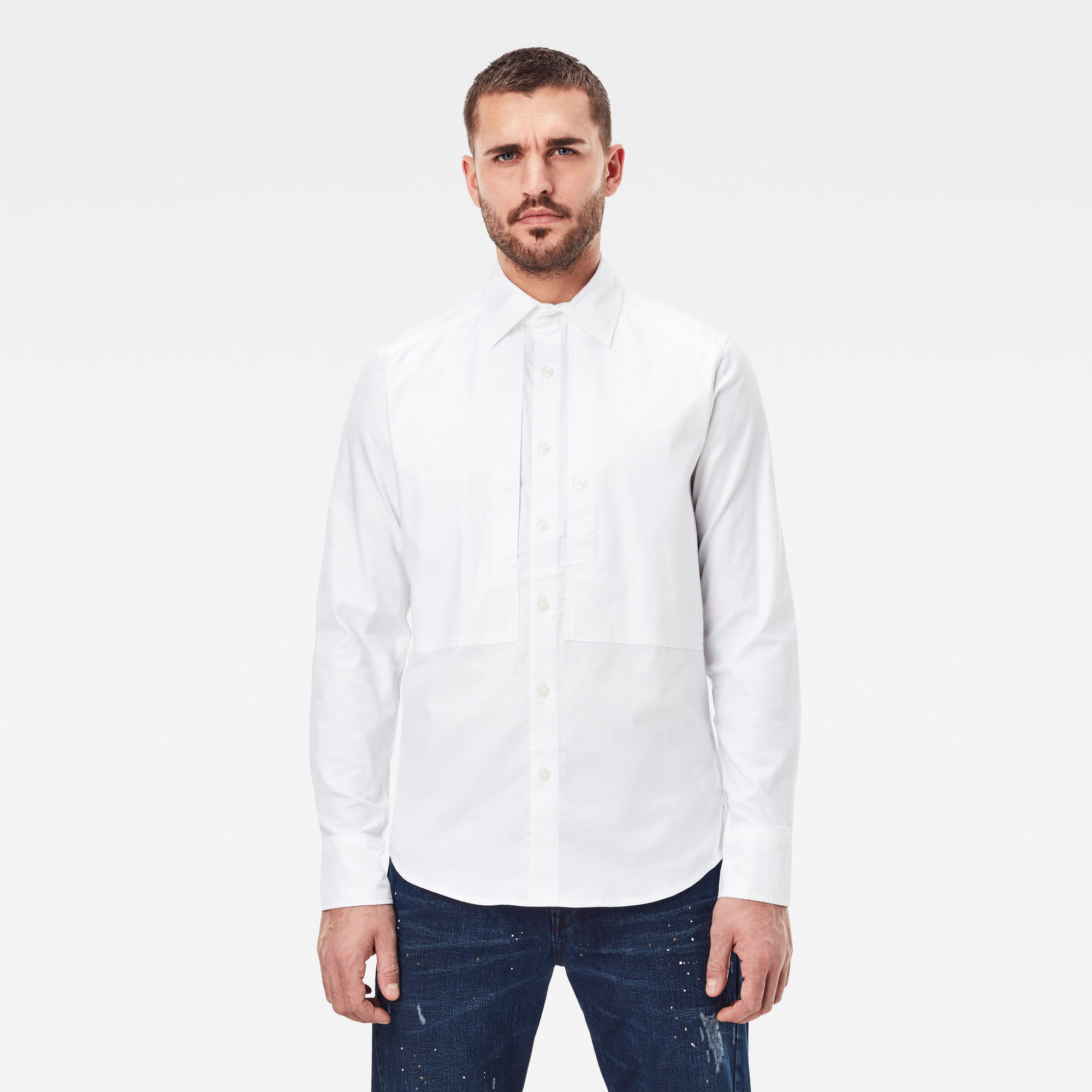 G-Star RAW Heren Panelled Pocket Slim Shirt Meerkleurig