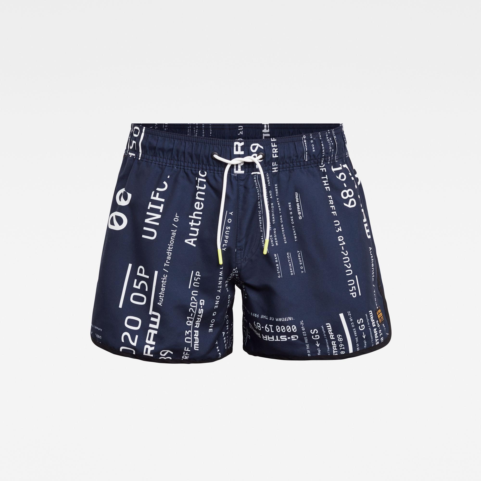 G-Star RAW Heren Carnic Allover Print Swimshort Meerkleurig