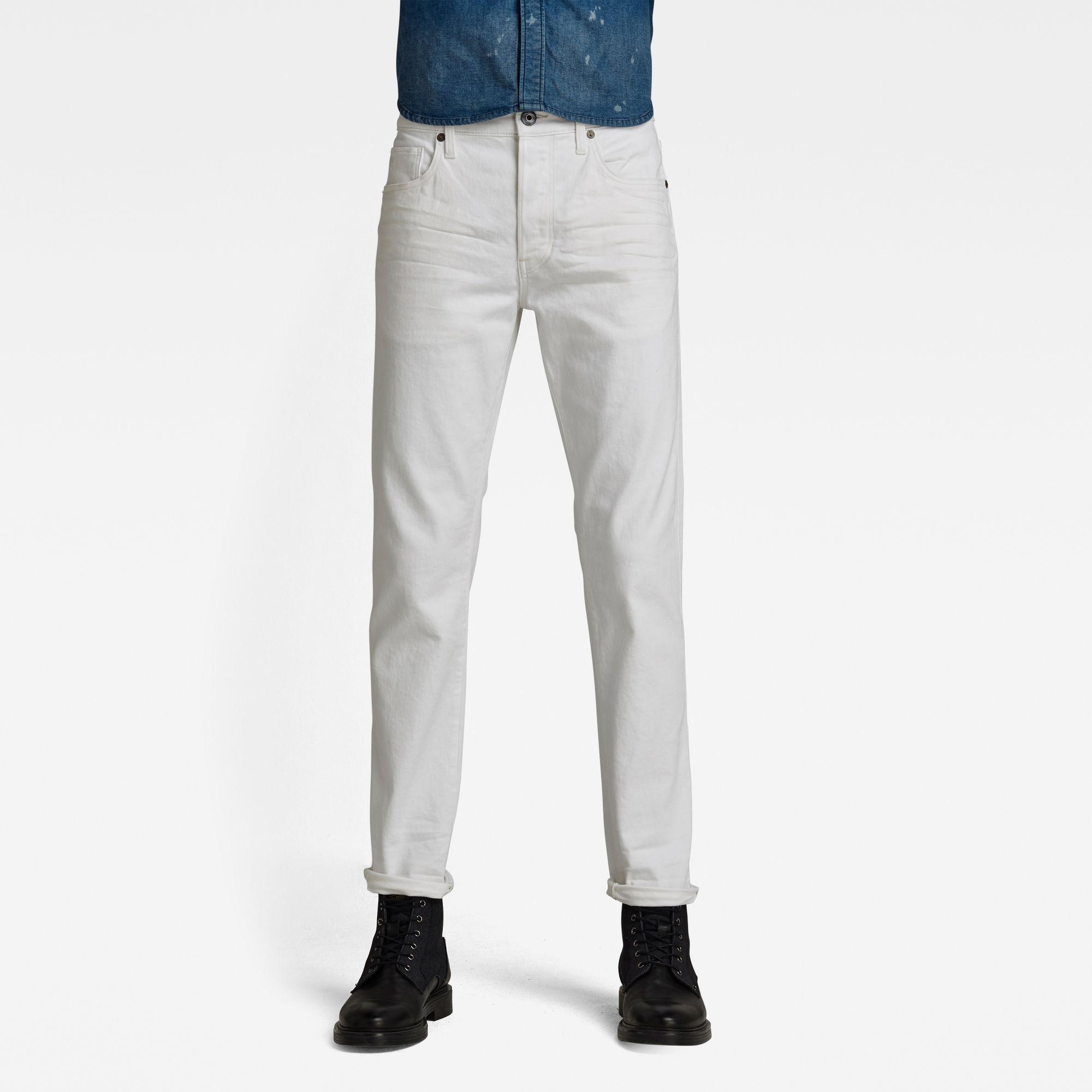G-Star RAW Heren 3301 Slim Jeans Wit