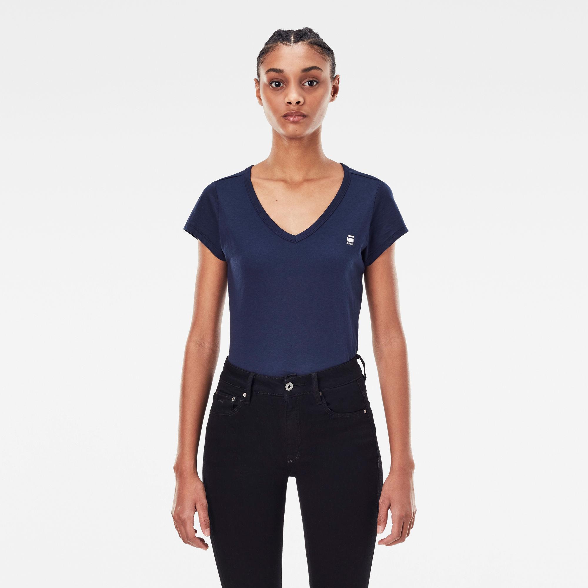 G-Star RAW Dames Eyben Slim T-Shirt Donkerblauw