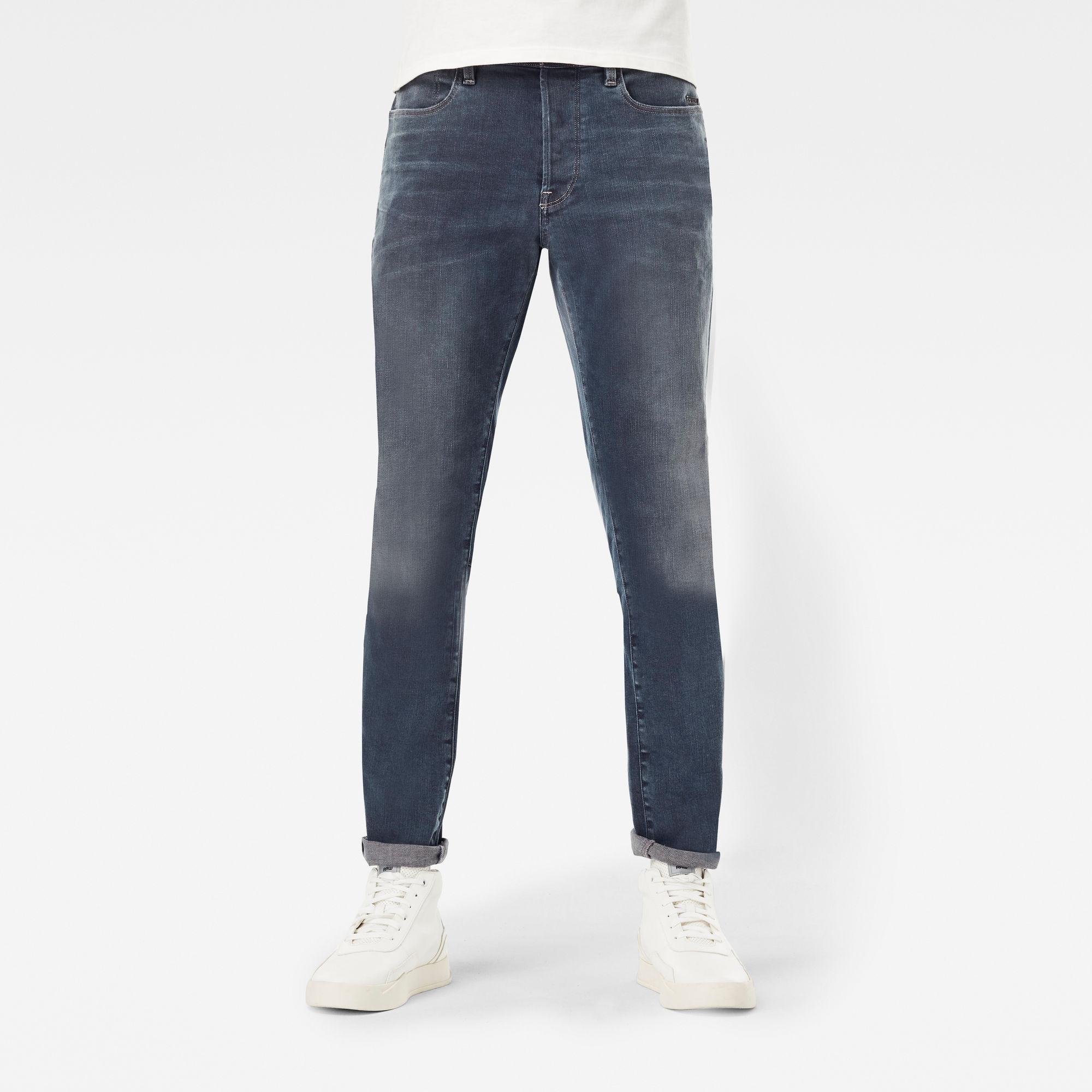 G-Star RAW Heren Citishield 3D Slim Tapered Jeans Donkerblauw