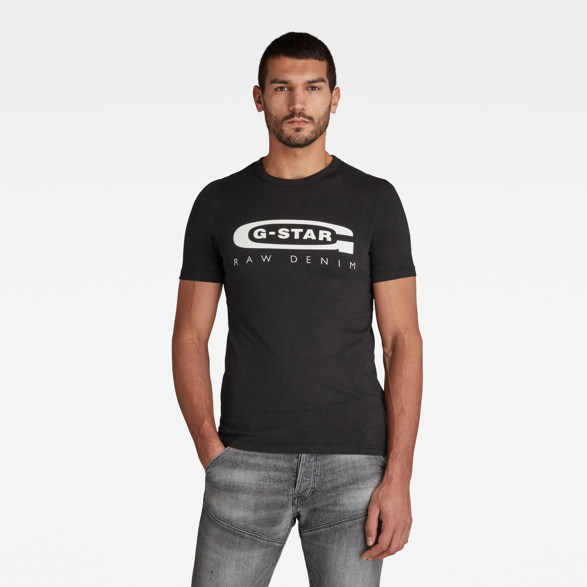 G-Star RAW Heren Graphic 4 T-Shirt Zwart