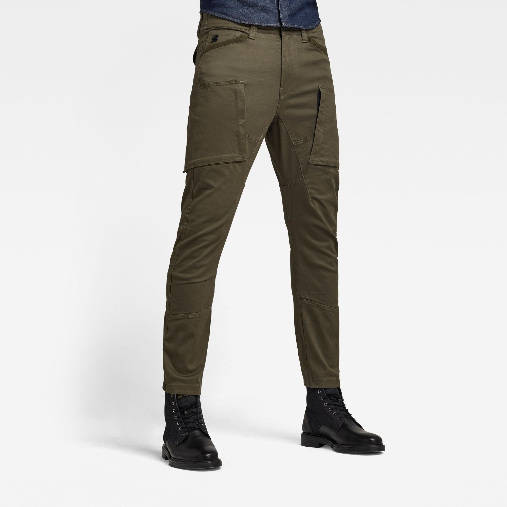 G-Star RAW Heren Zip Pocket 3D Skinny Cargo Broek Groen