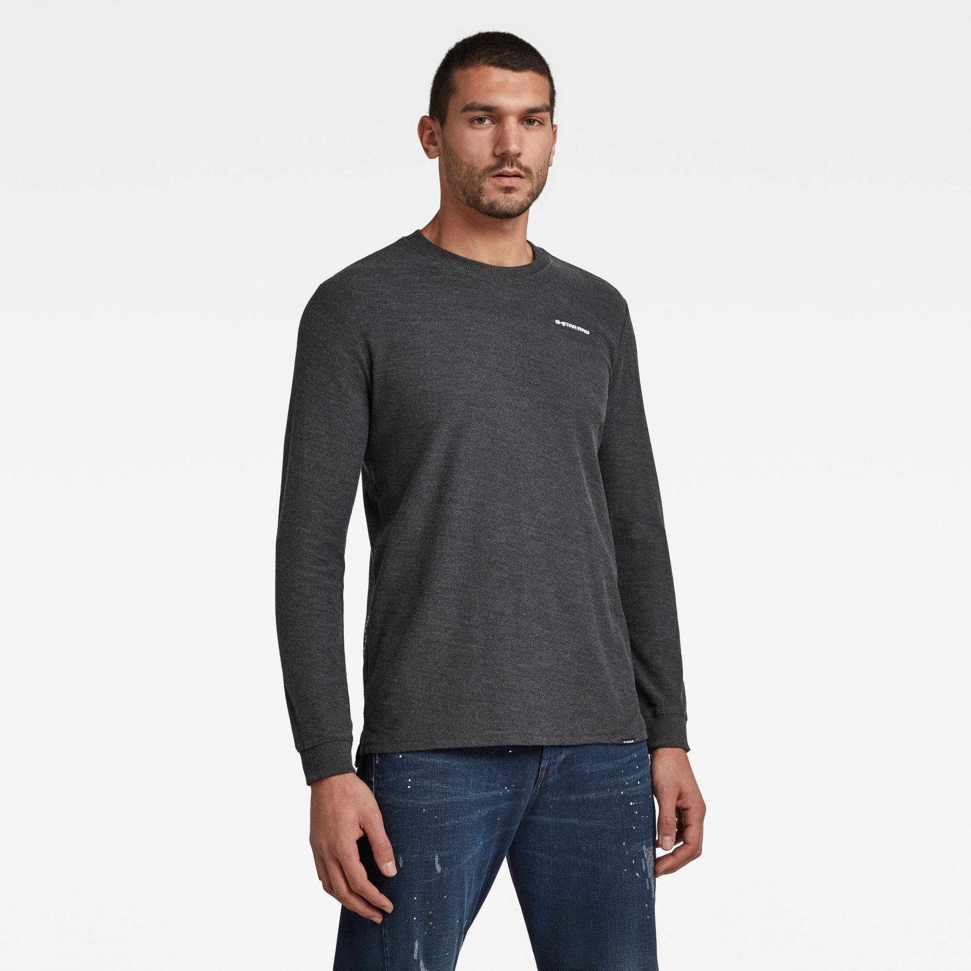 G-Star RAW Heren Textured Stitch Tweater Zwart