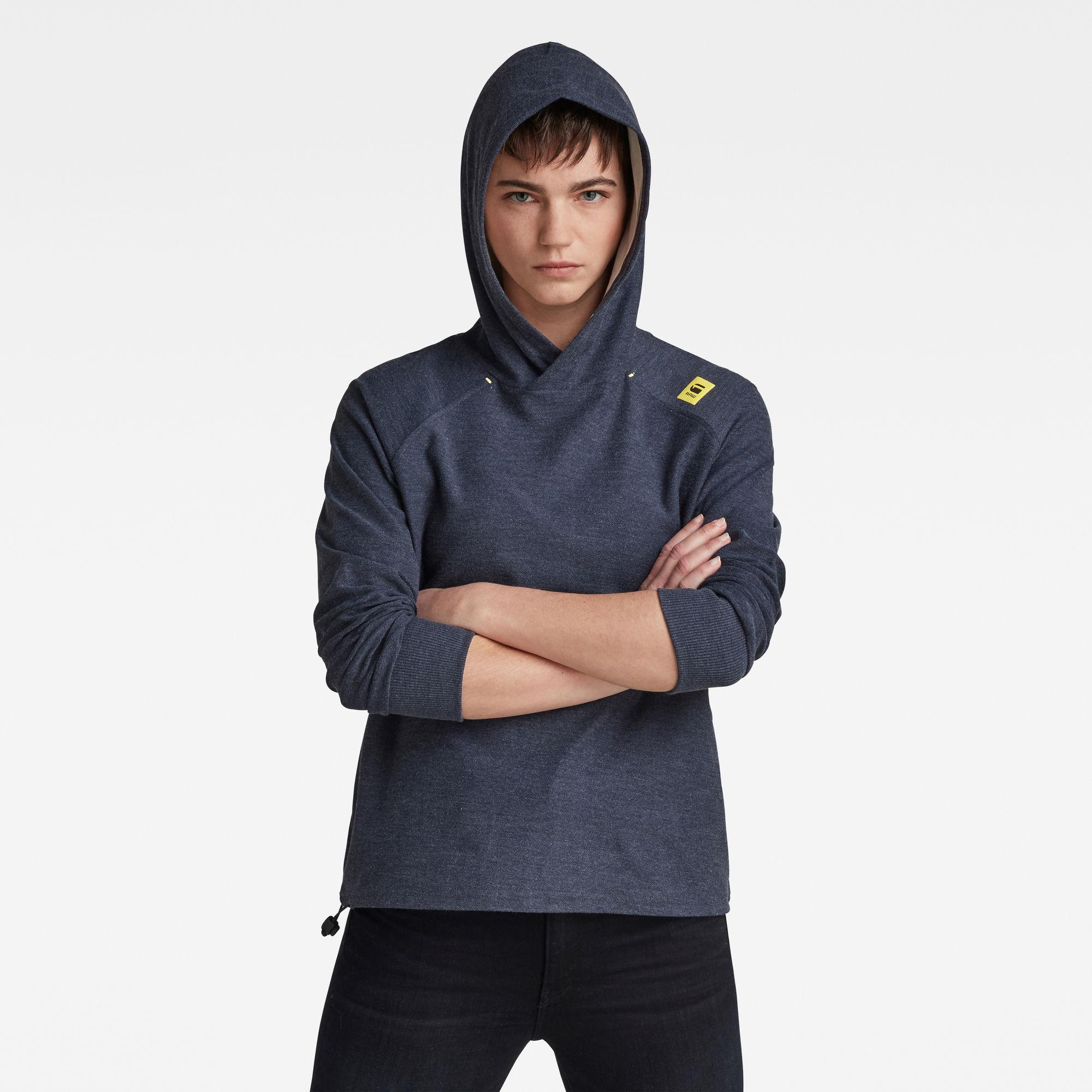 G-Star RAW Dames Hooded Tweater Blauw
