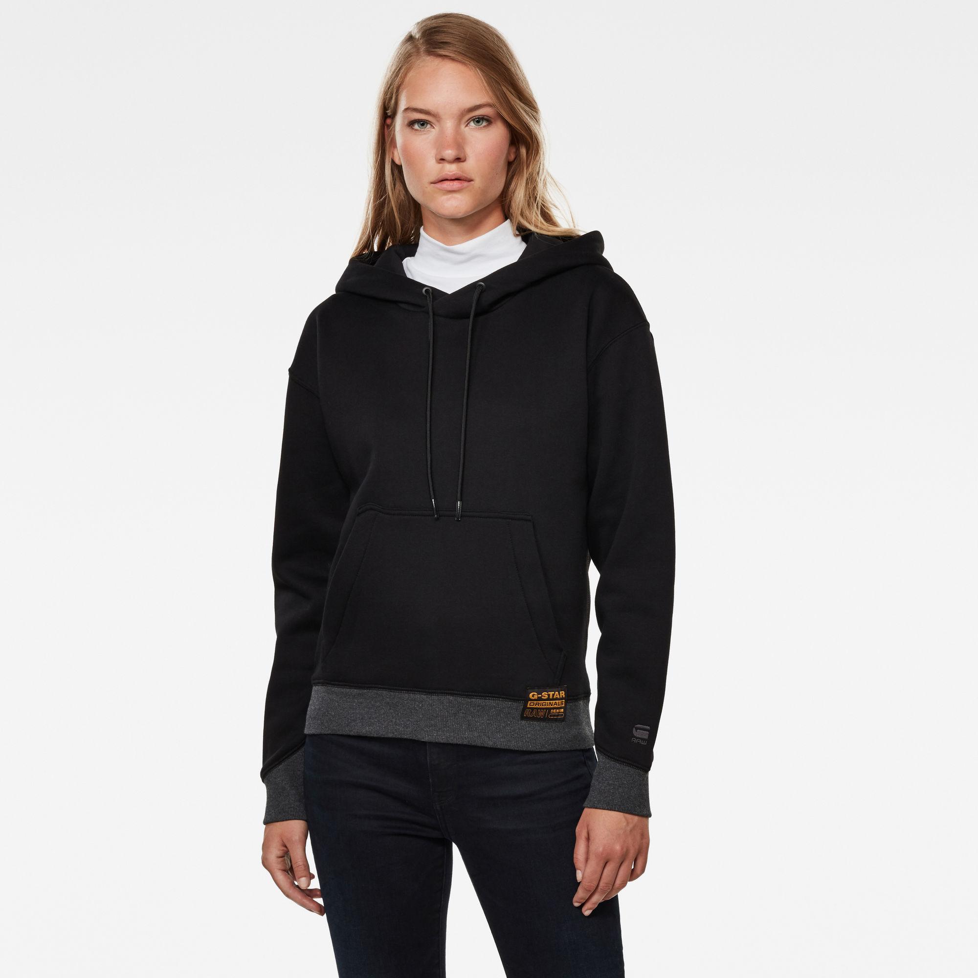 G-Star RAW Dames Premium Core Hooded Sweater Zwart