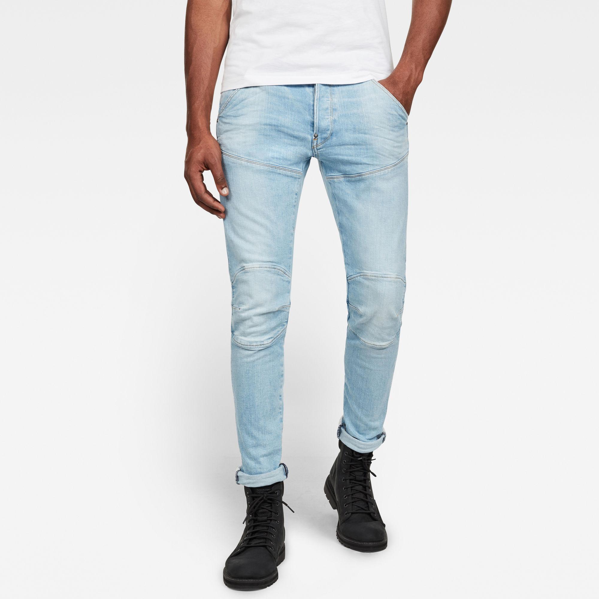 G-Star RAW Heren 5620 3D Slim Jeans Lichtblauw