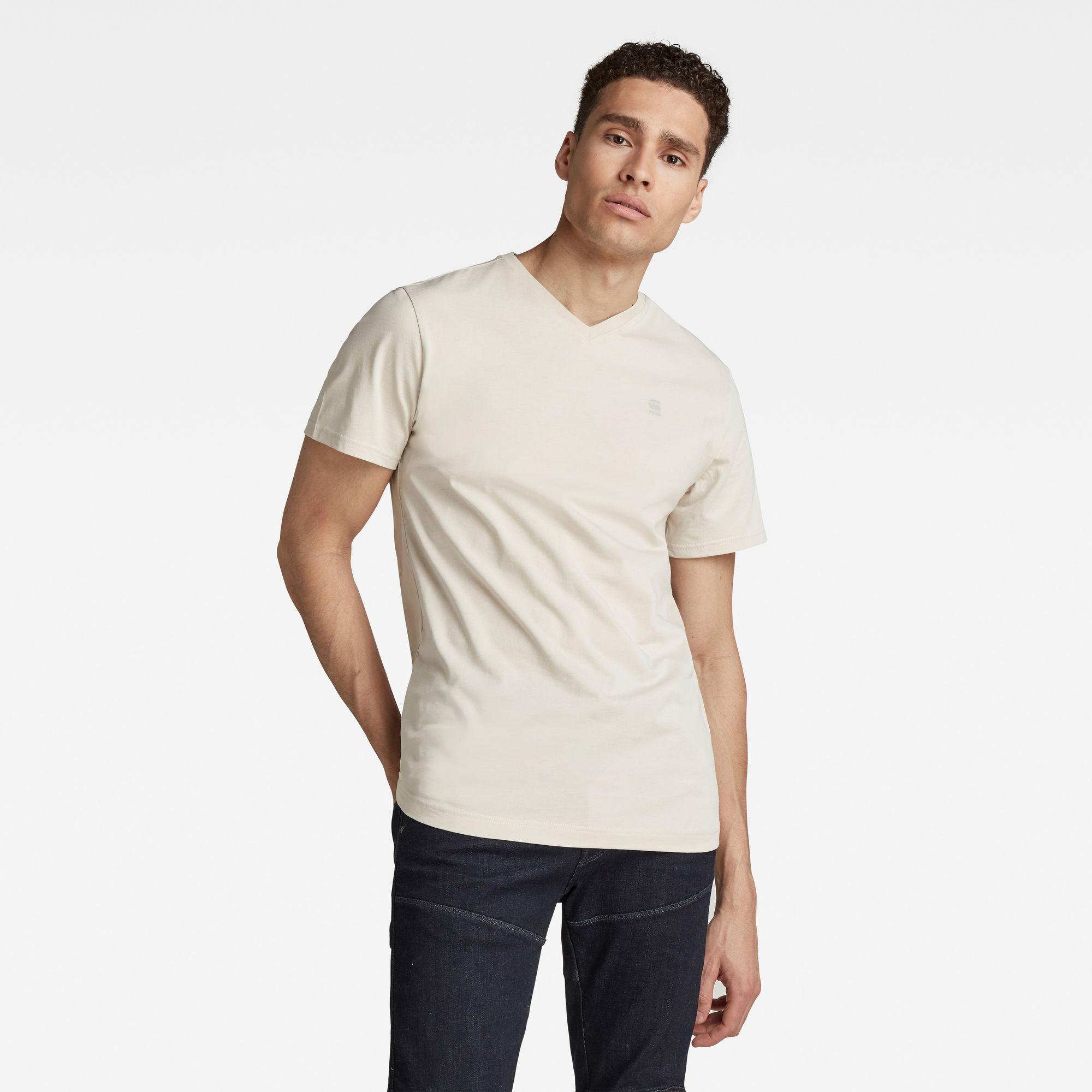 G-Star RAW Heren Base-S T-Shirt Beige