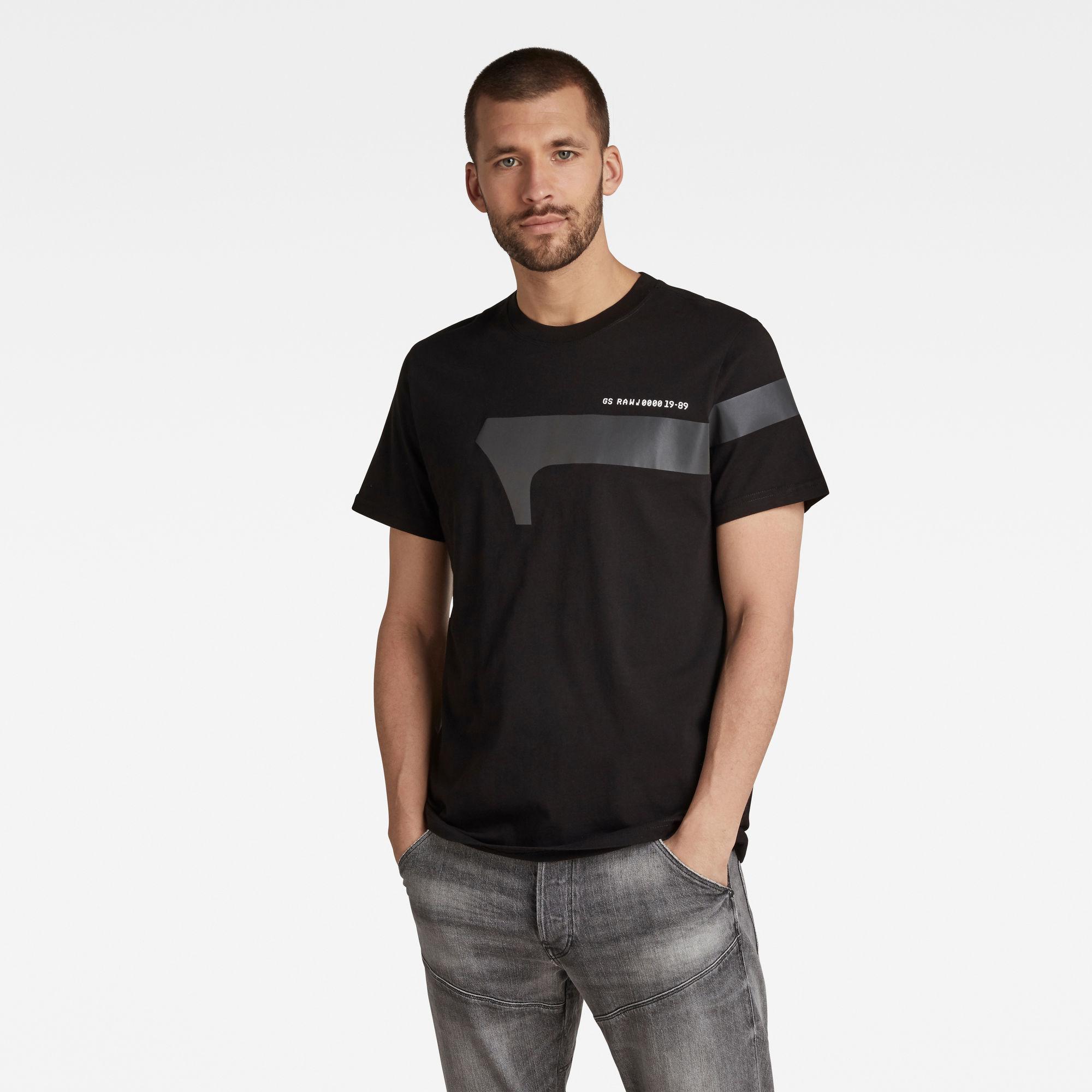 G-Star RAW Heren 1 Reflective Graphic T-Shirt Zwart