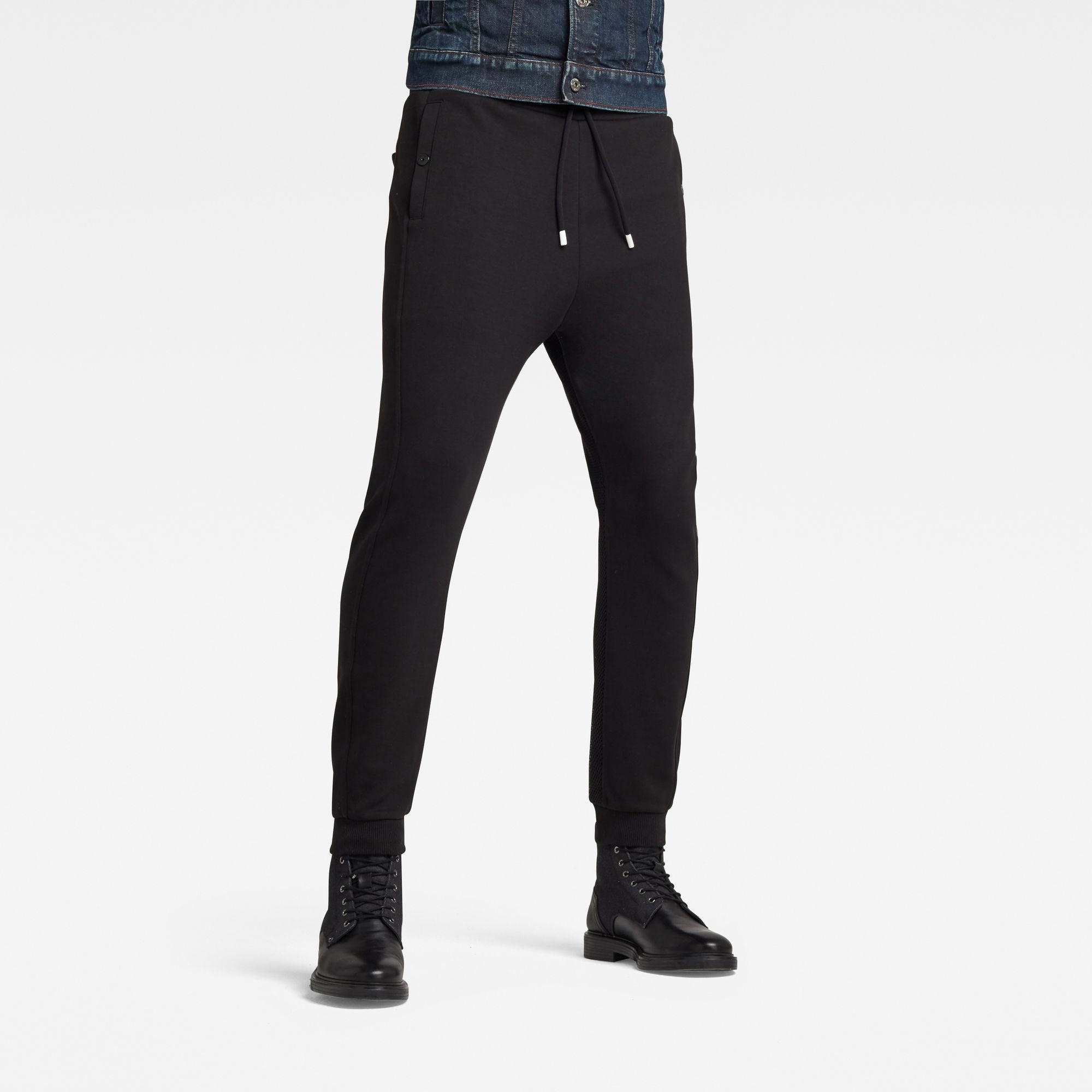 G-Star RAW Heren Moto Mixed Mesh Sweatpants Zwart