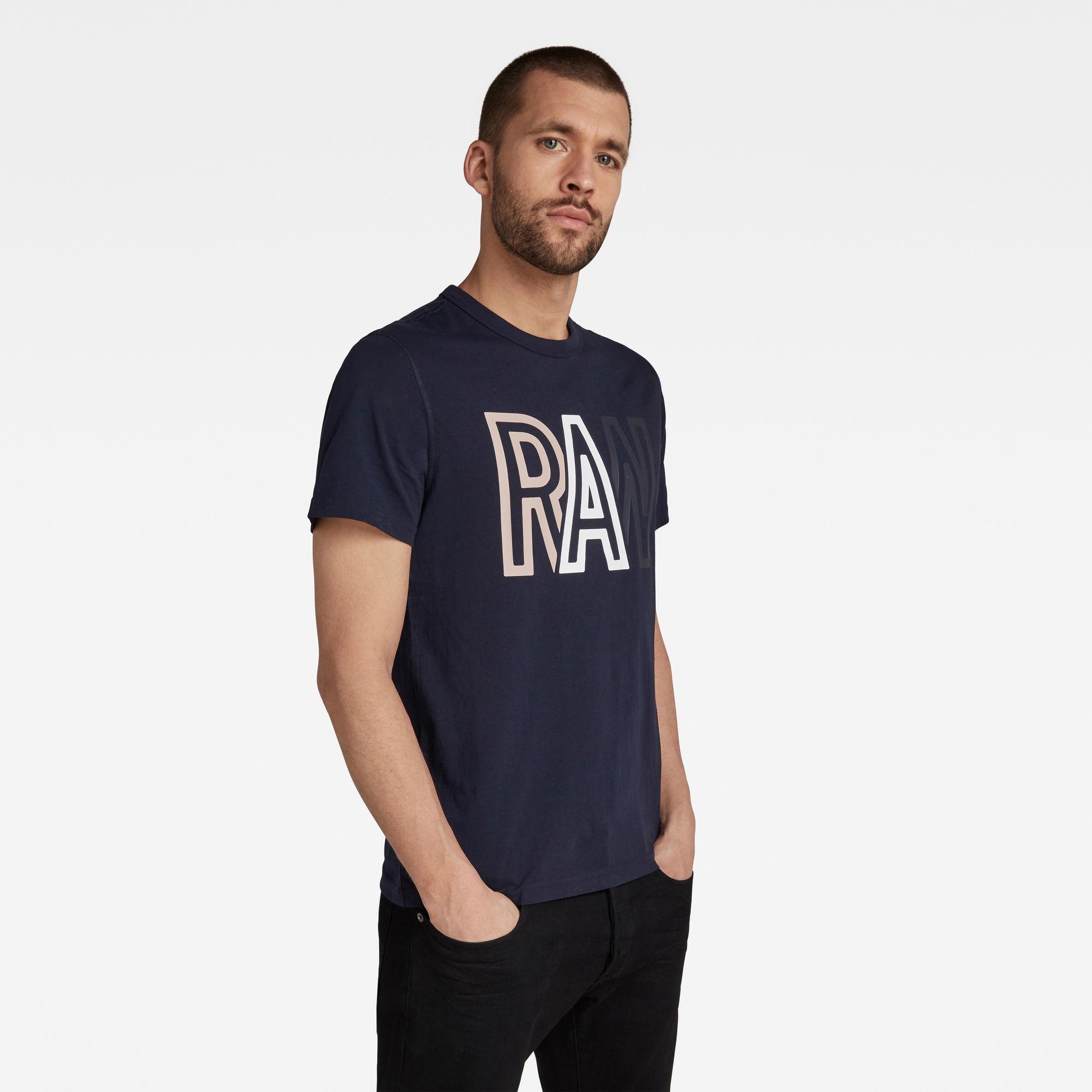 G-Star RAW Heren Raw T-Shirt Donkerblauw