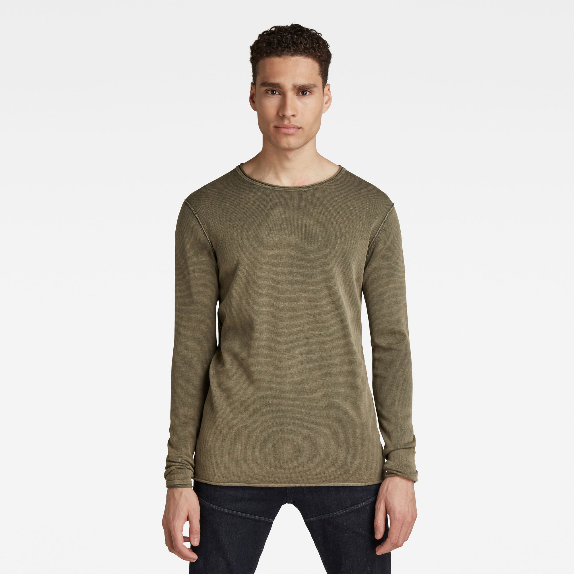 G-Star RAW Hombre Bronek Knitted Sweater Verde