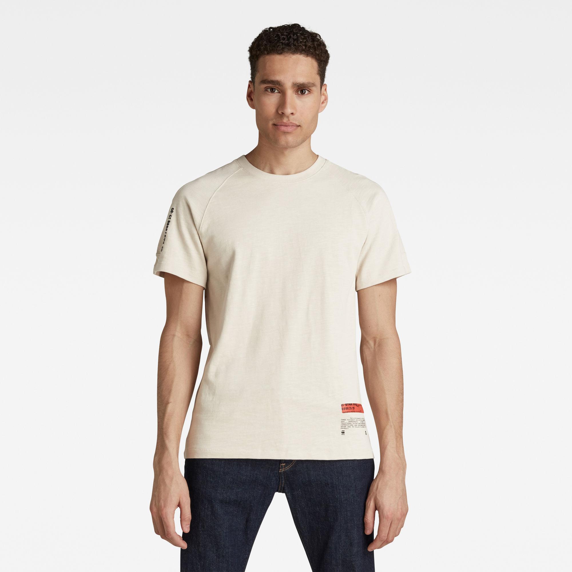 G-Star RAW Heren Pazkor Multi Graphic T-Shirt Beige