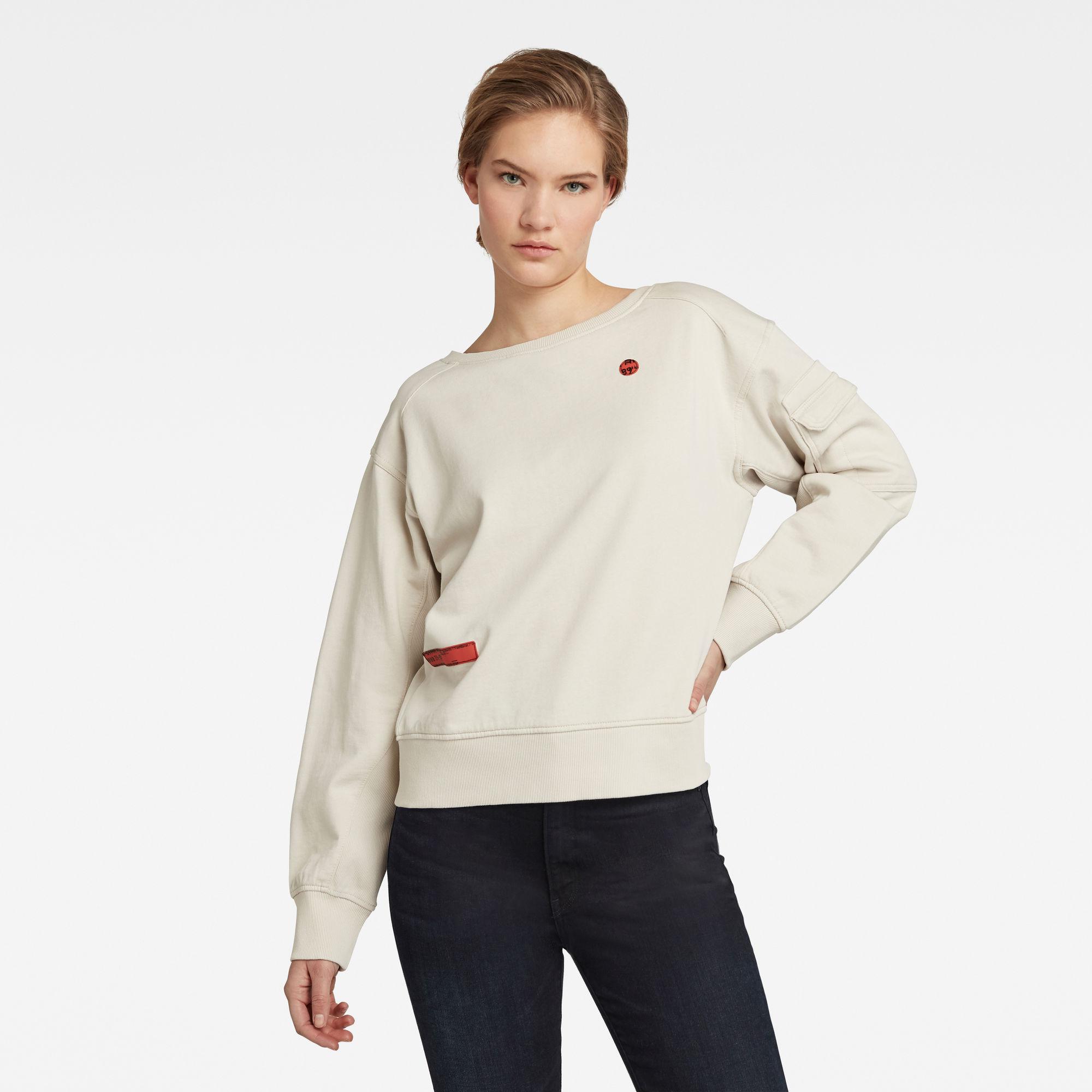 G-Star RAW Dames Sweater Boothals Beige