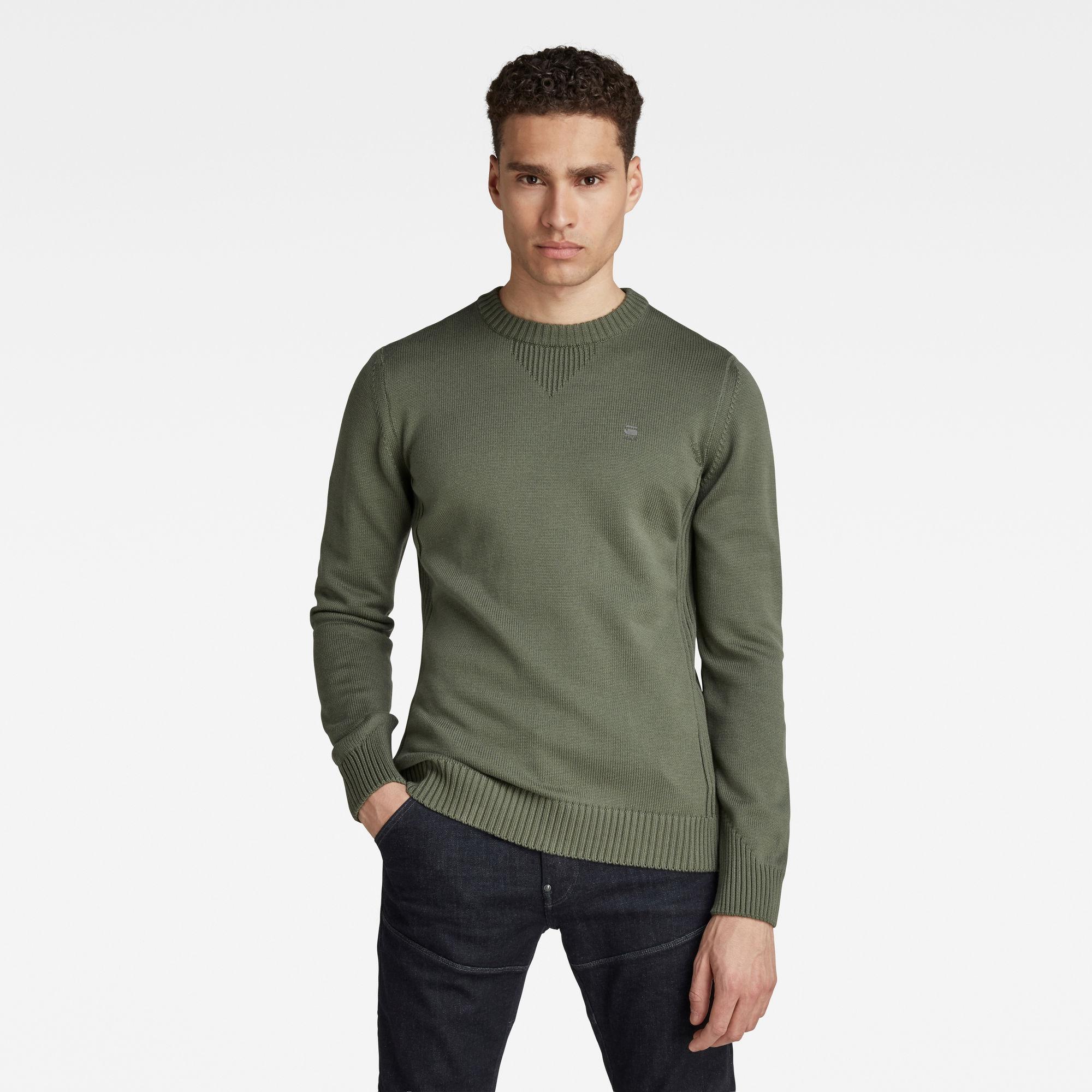 G-Star RAW Heren Classic Sport Knitted Sweater Groen