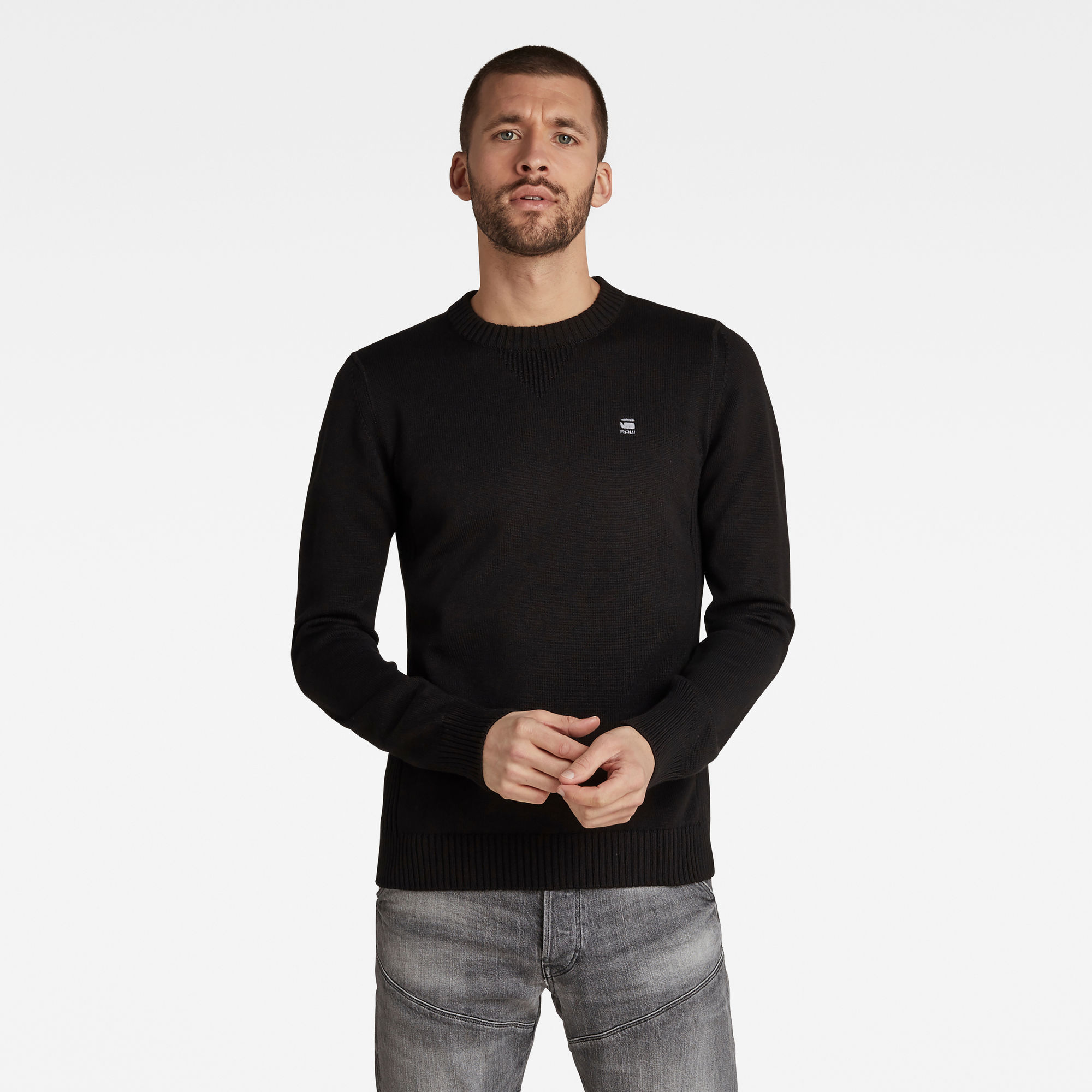 G-Star RAW Heren Classic Sport Knitted Sweater Zwart