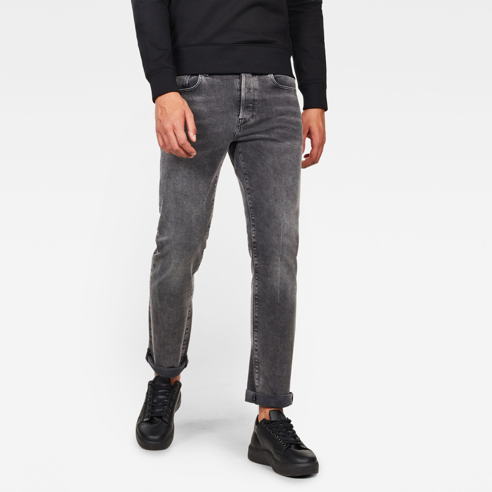 G-Star RAW Heren 3301 Regular Straight Jeans Grijs